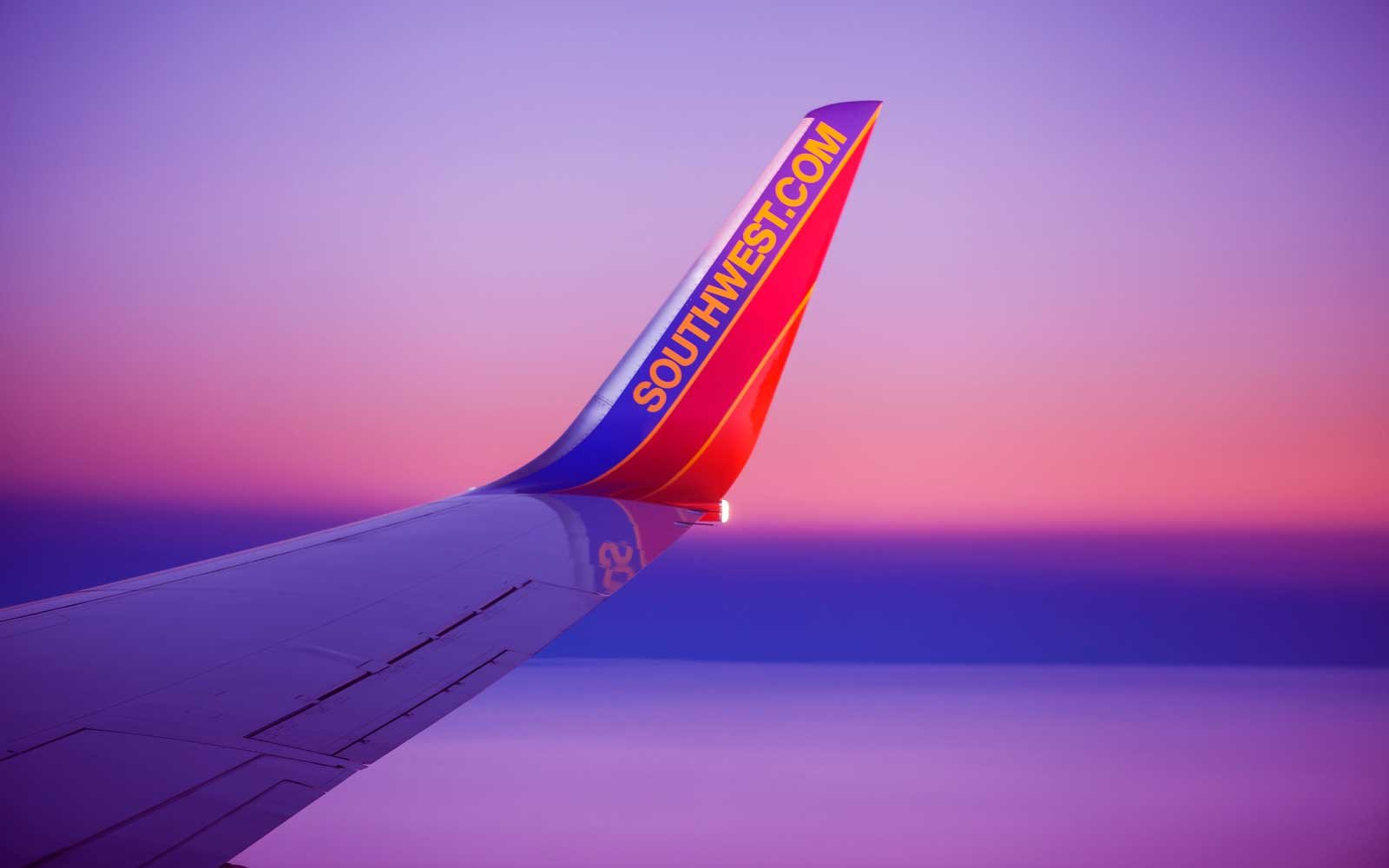Southwest Flight to Women's March With Pink Lights