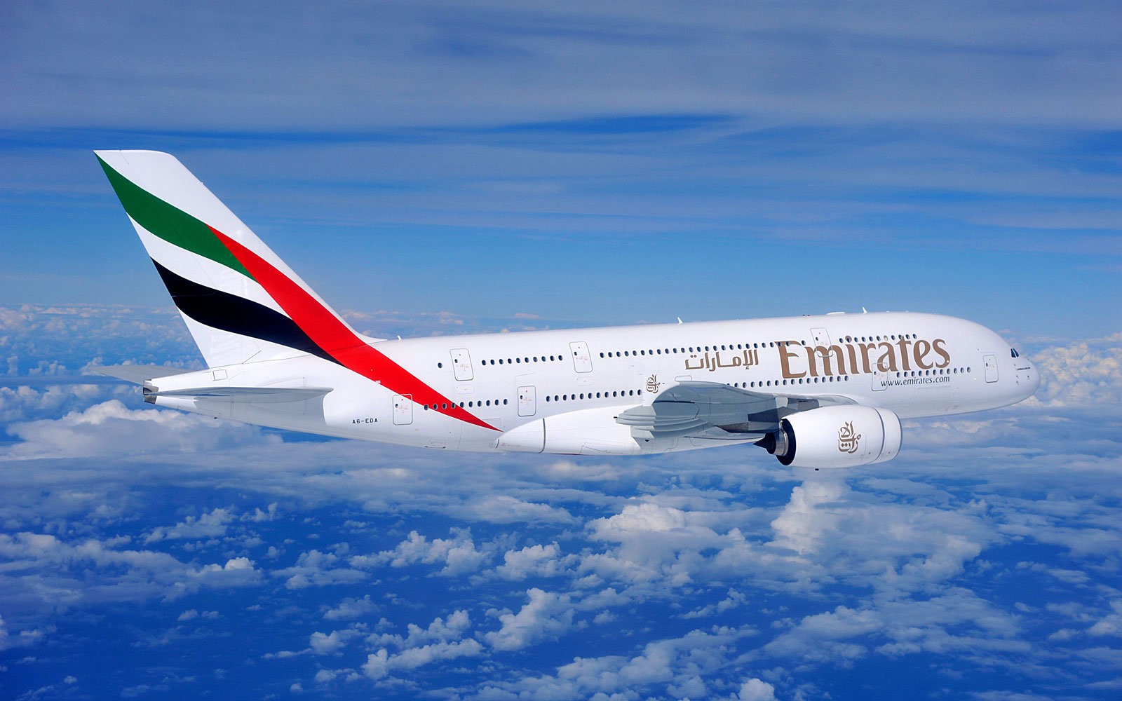 Emirates A380 plane photo