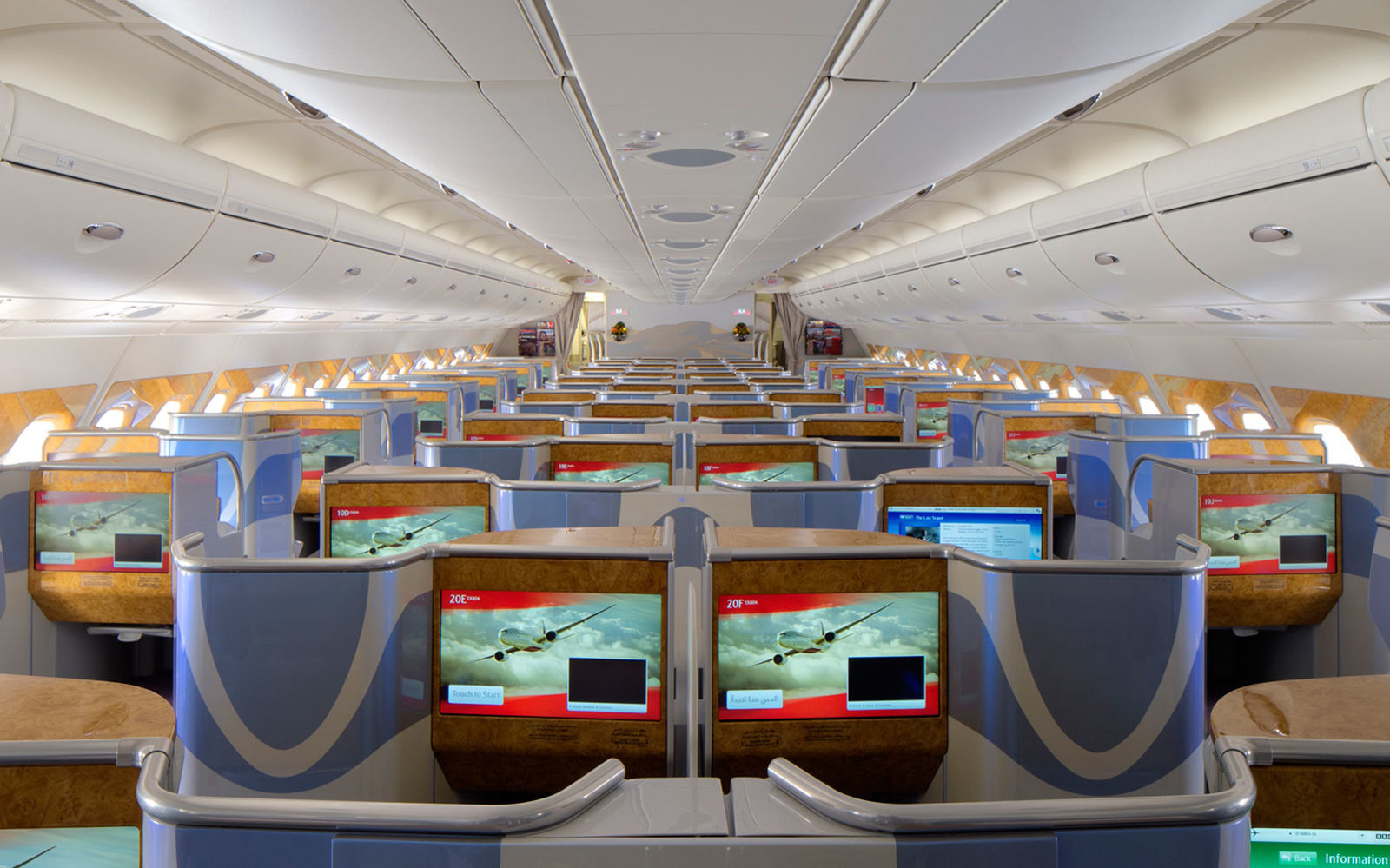 emirates a380 business class photo