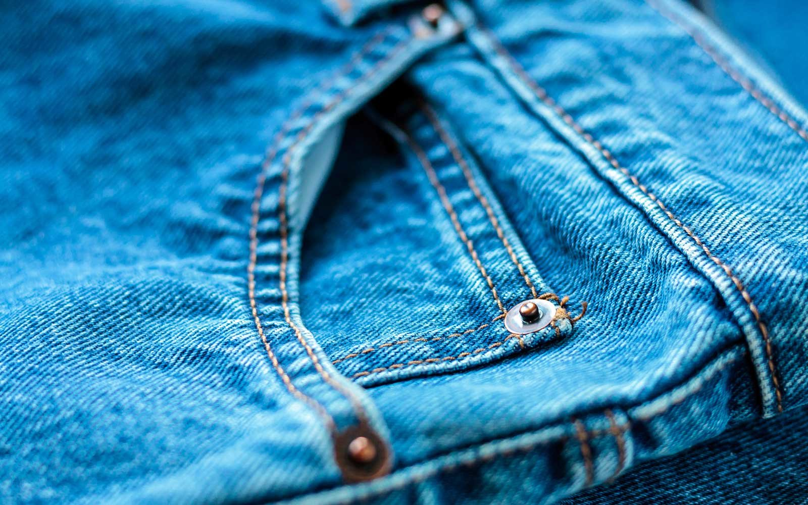 Metal Details On Denim Pants
