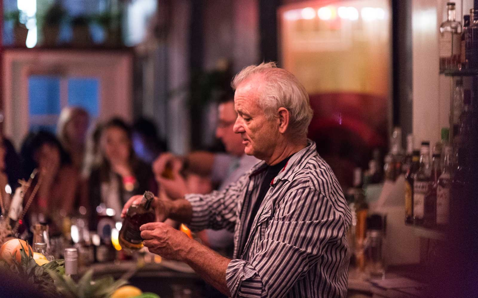 Bill Murray Bartending at 21 Greenpoint in Brooklyn