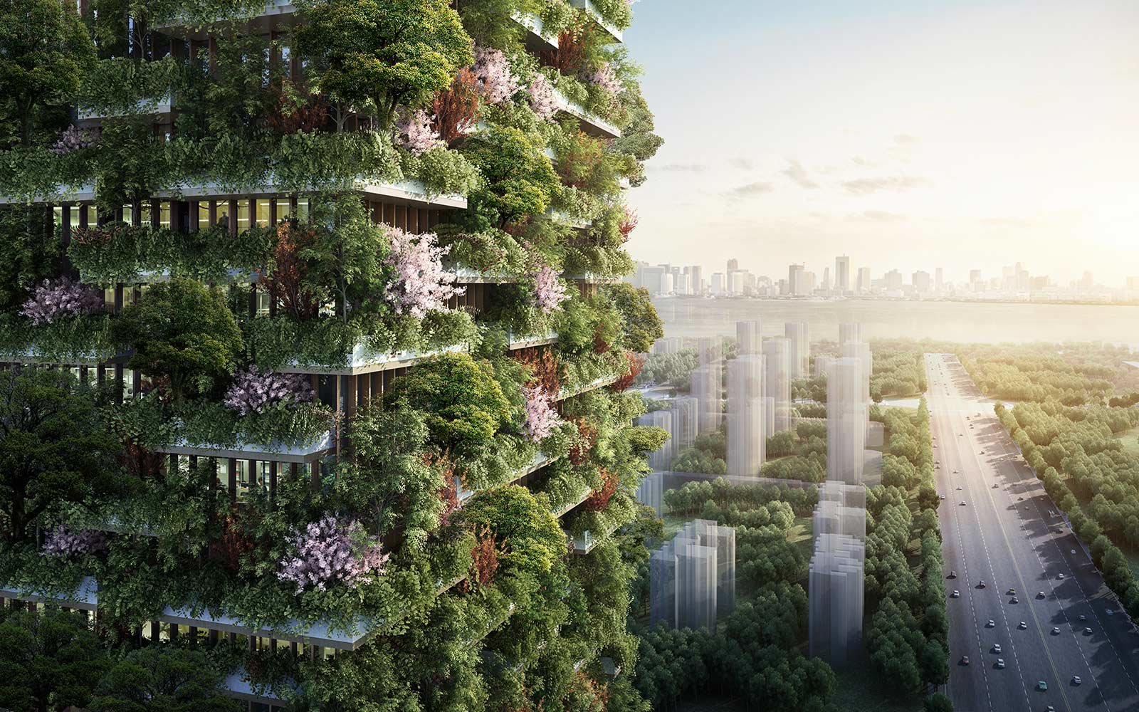 china is building a vertical forest to combat greenhouse gas