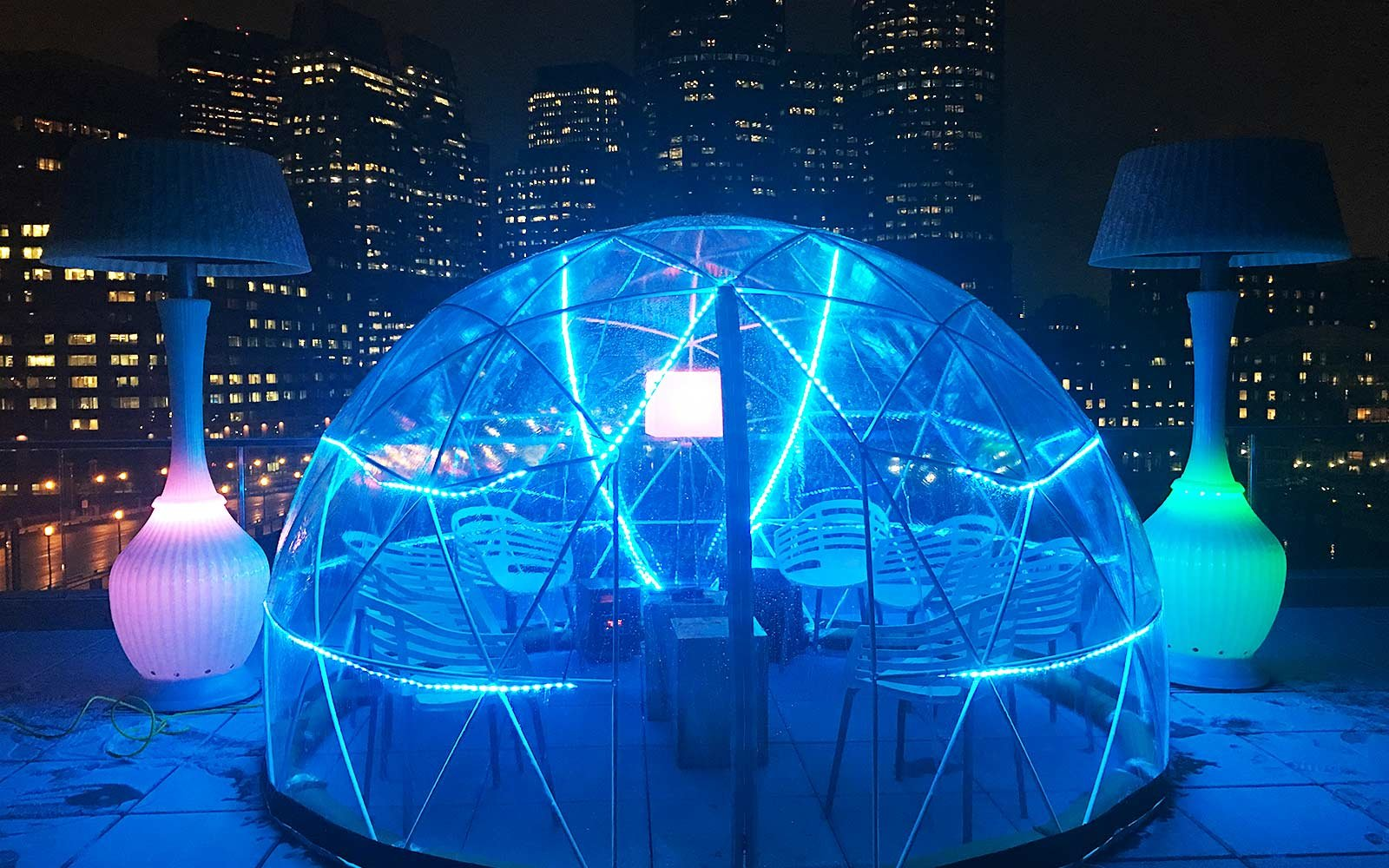 Stay Cozy At Boston S New Rooftop Igloo Bar Travel