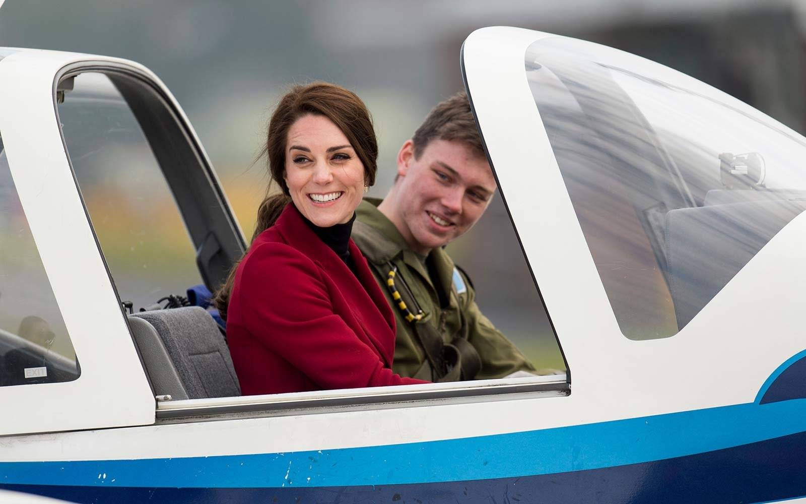 Kate Middleton takes flight