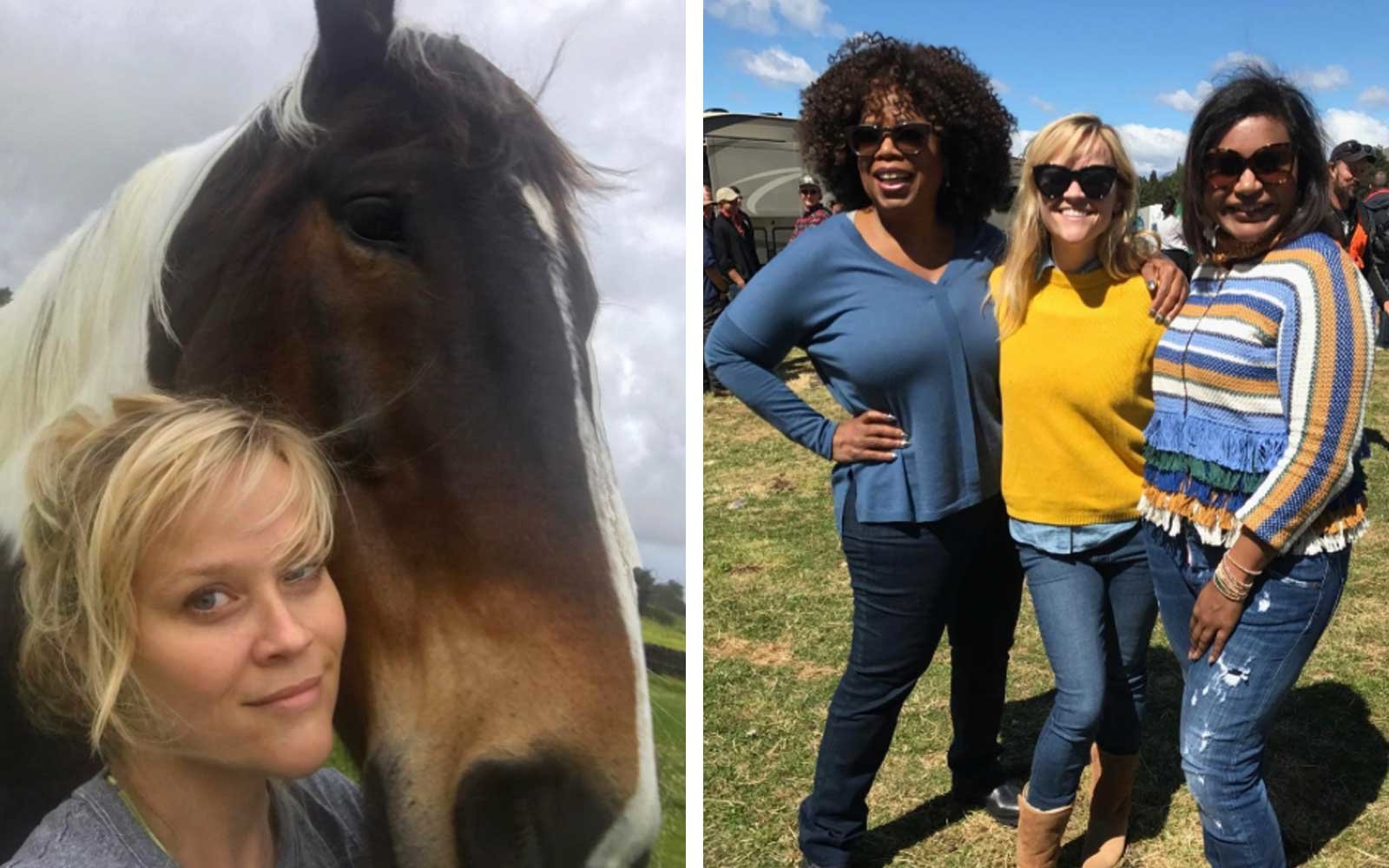 Reese Witherspoon, Mindy Kaling, Oprah in New Zealand