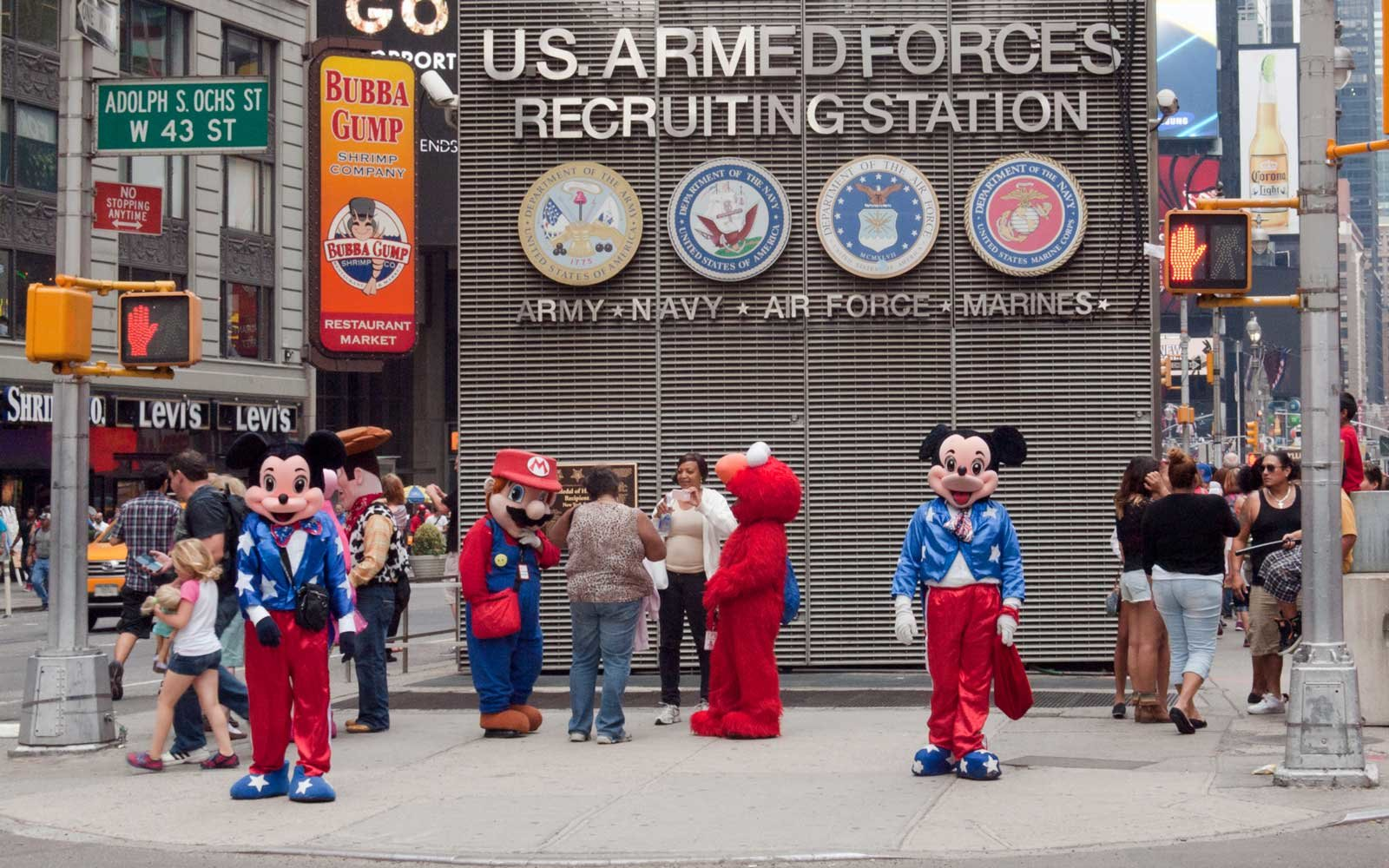 New York City Times Square Mickey Mouse Charged A Tourist