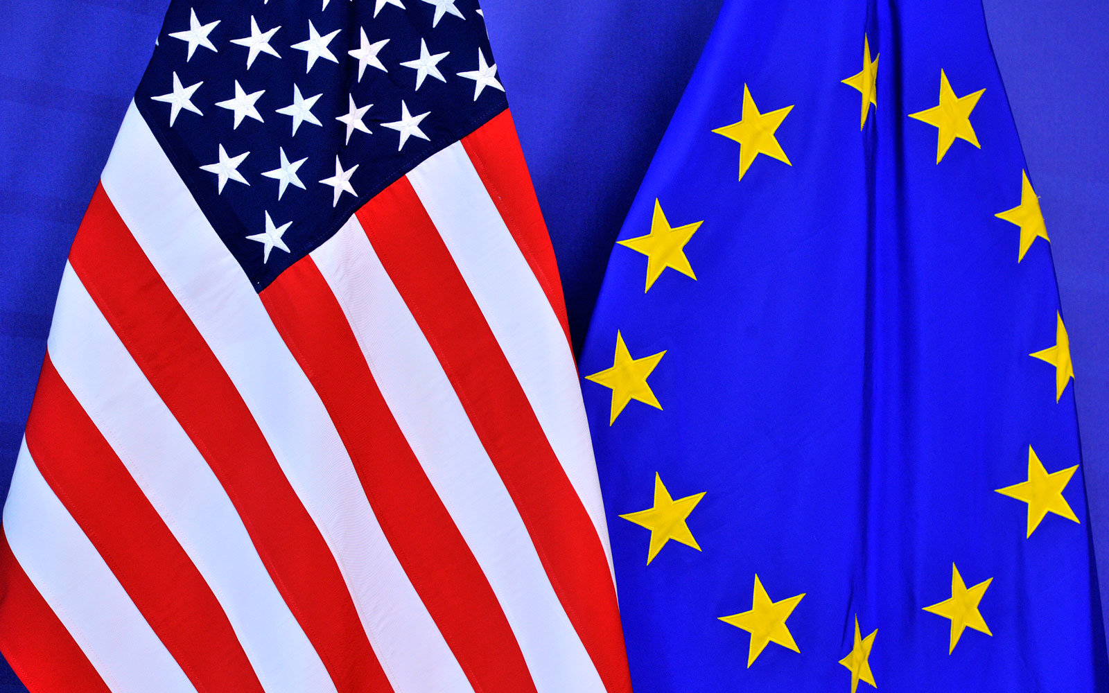 U.S. EU flags