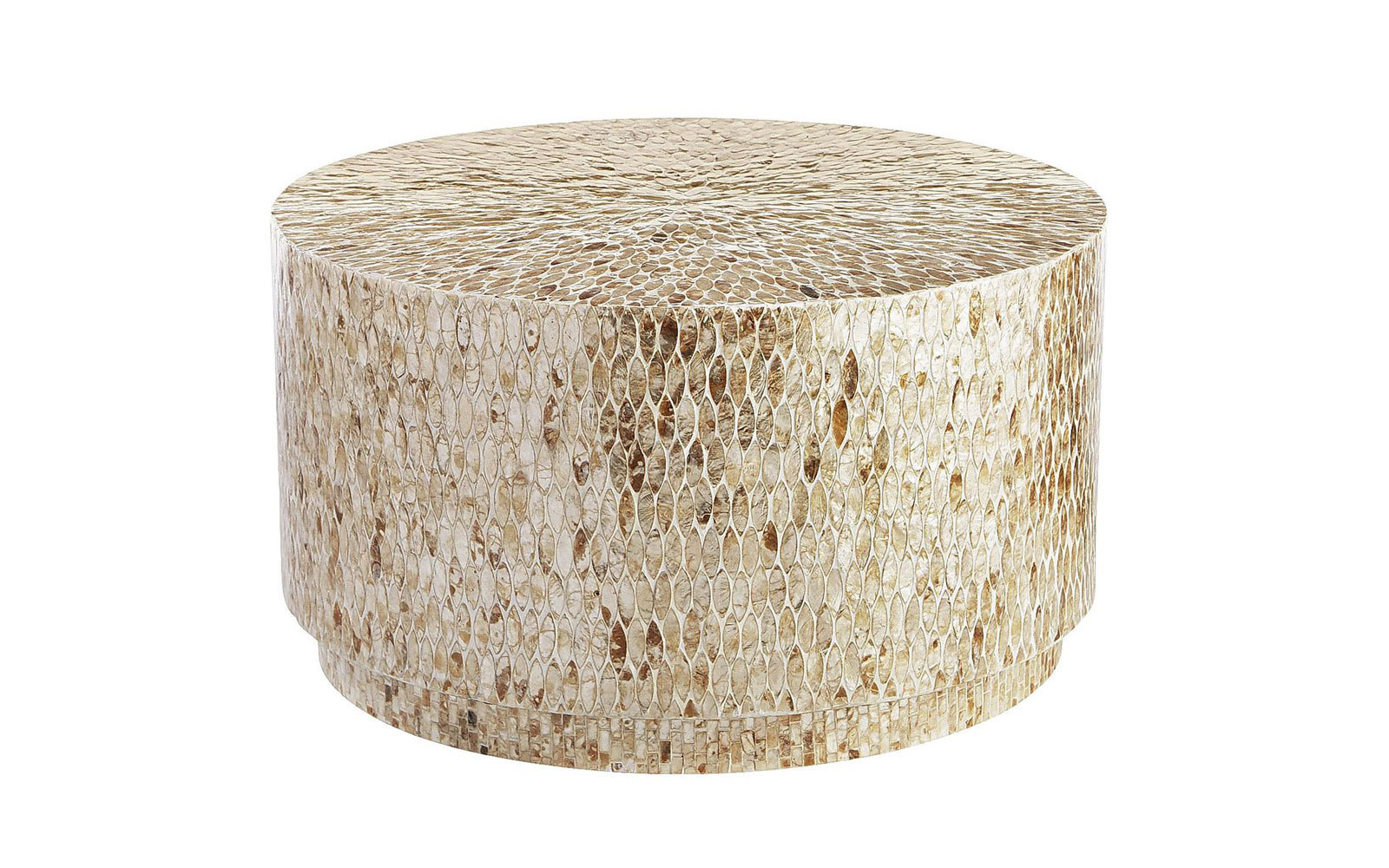 Capiz Round Drum Coffee Table