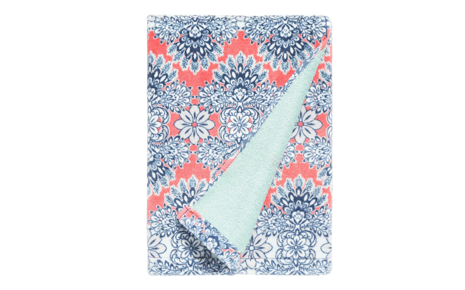 Coral Esme Printed Velour Bath Towel