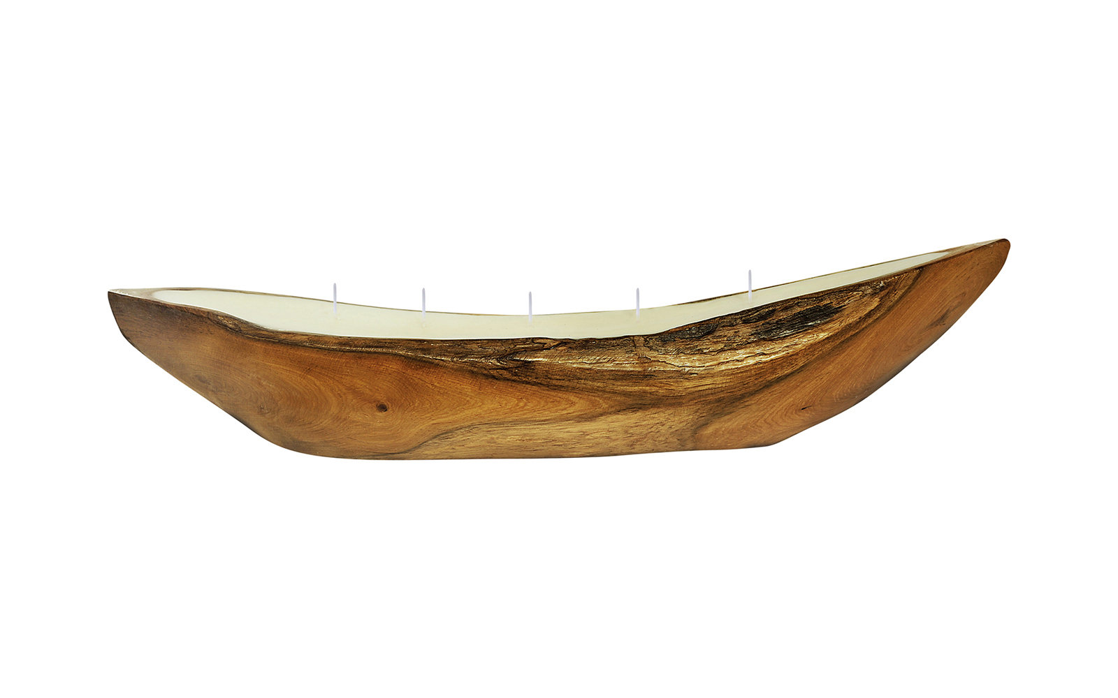 Wooden Boat Candle