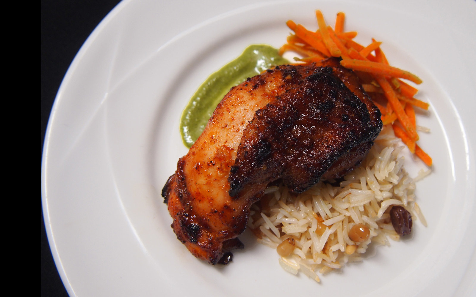 North African Style Honey Roasted Chicken with Lebanese Rice, Dining Hall, University of California, Los Angeles, California