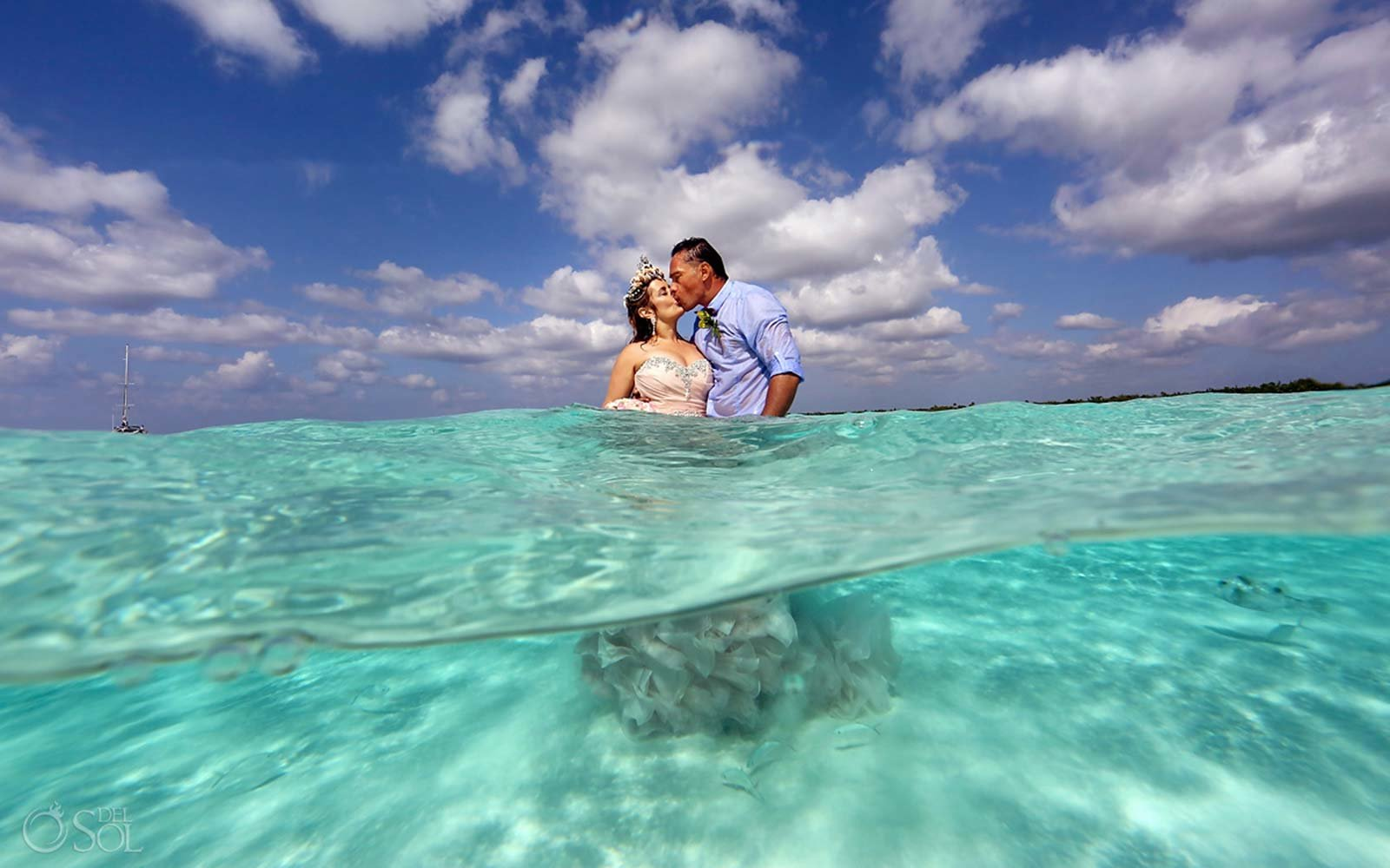 Sandbar Caribbean Wedding