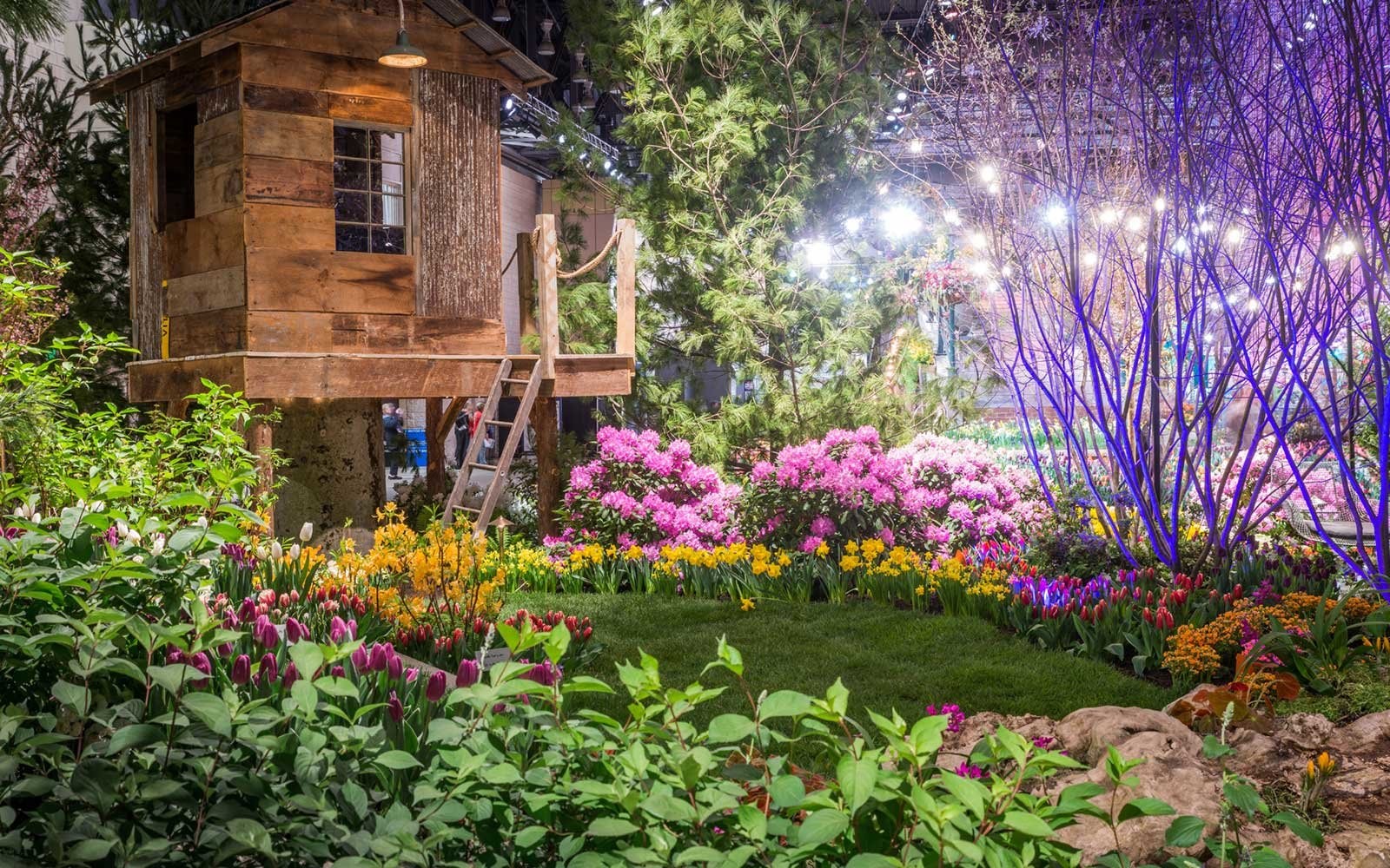 Burke Brothers Design, Build Exhibit, Philadelphia Flower Show, Philadelphia, Pennsylvania