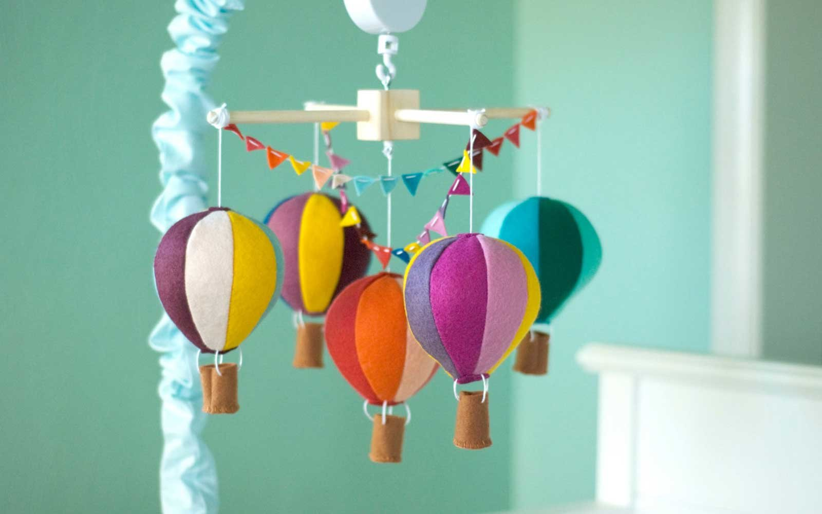 Hot Air Balloon Mobile Nursery Decor
