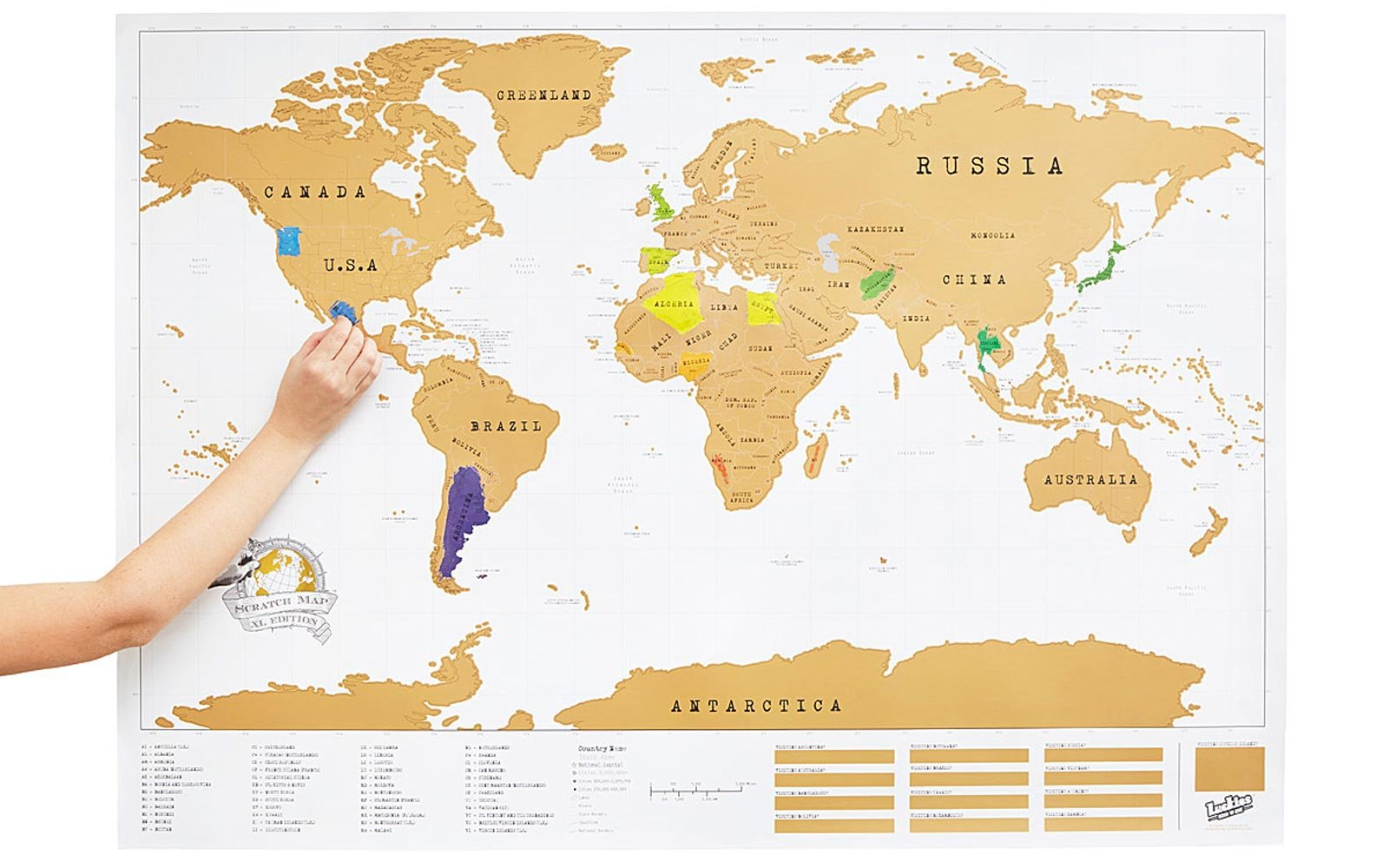 Travel themed nursery dcor and ideas travel leisure scratch map publicscrutiny Images