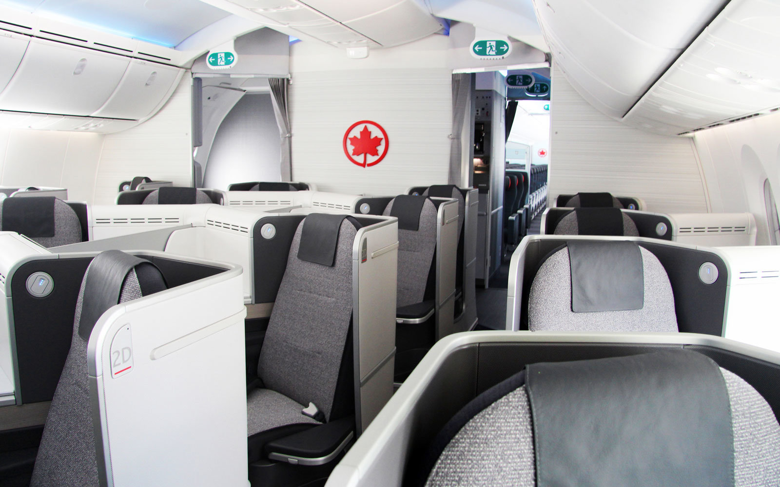 Air Canada is not putting seat upgrades up for auction.