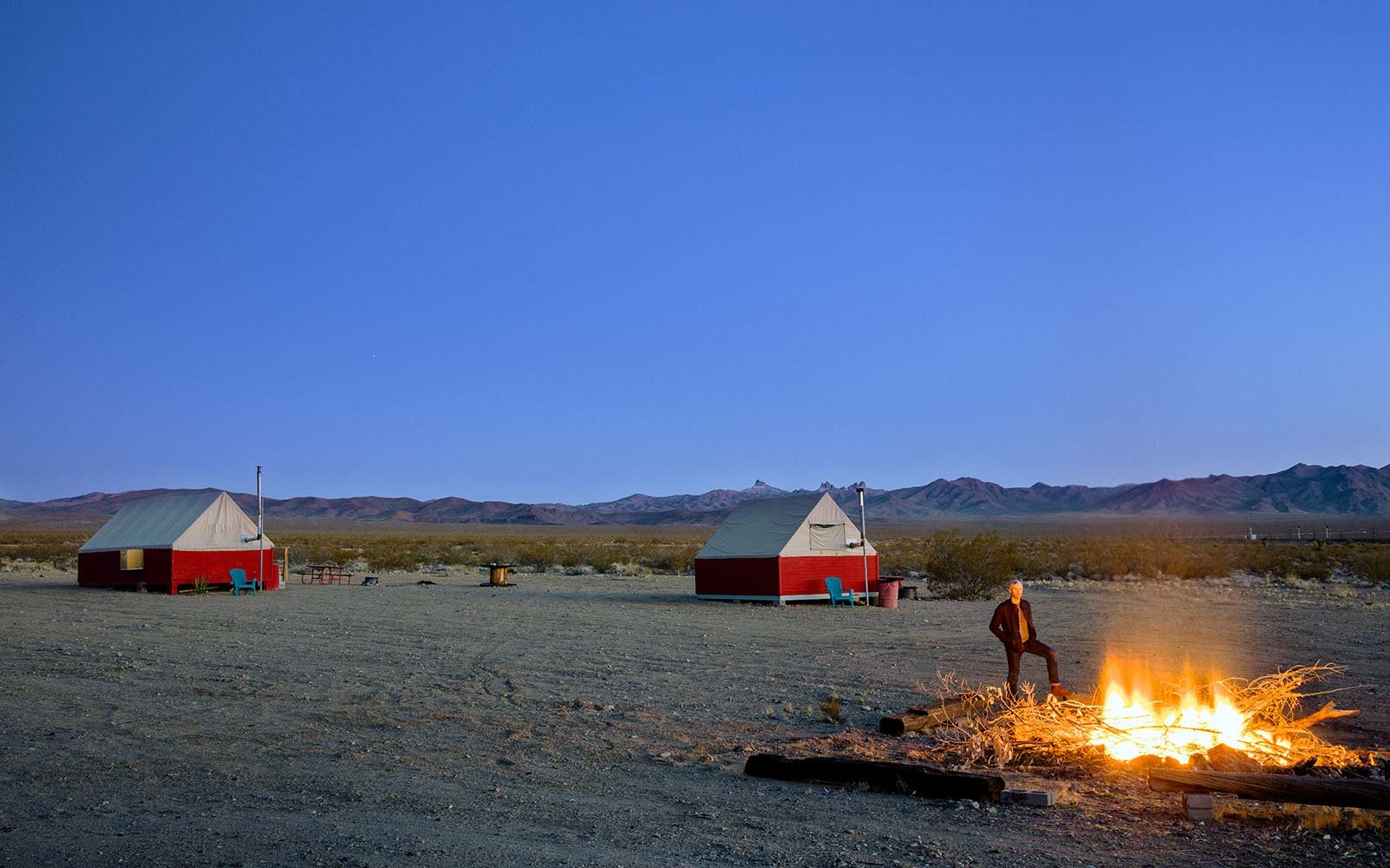 Ghost town in the Mojave Desert