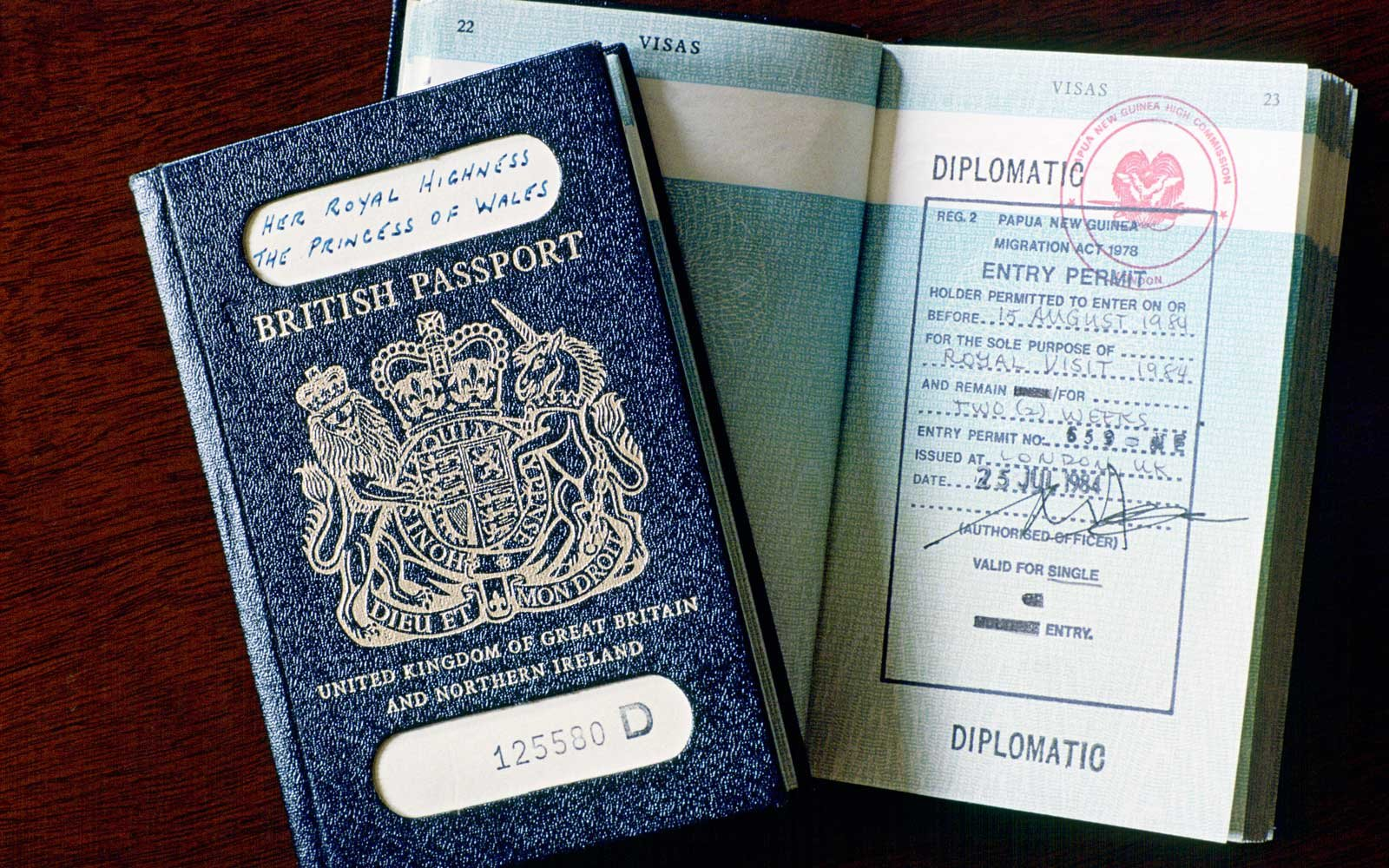Blue British Passports