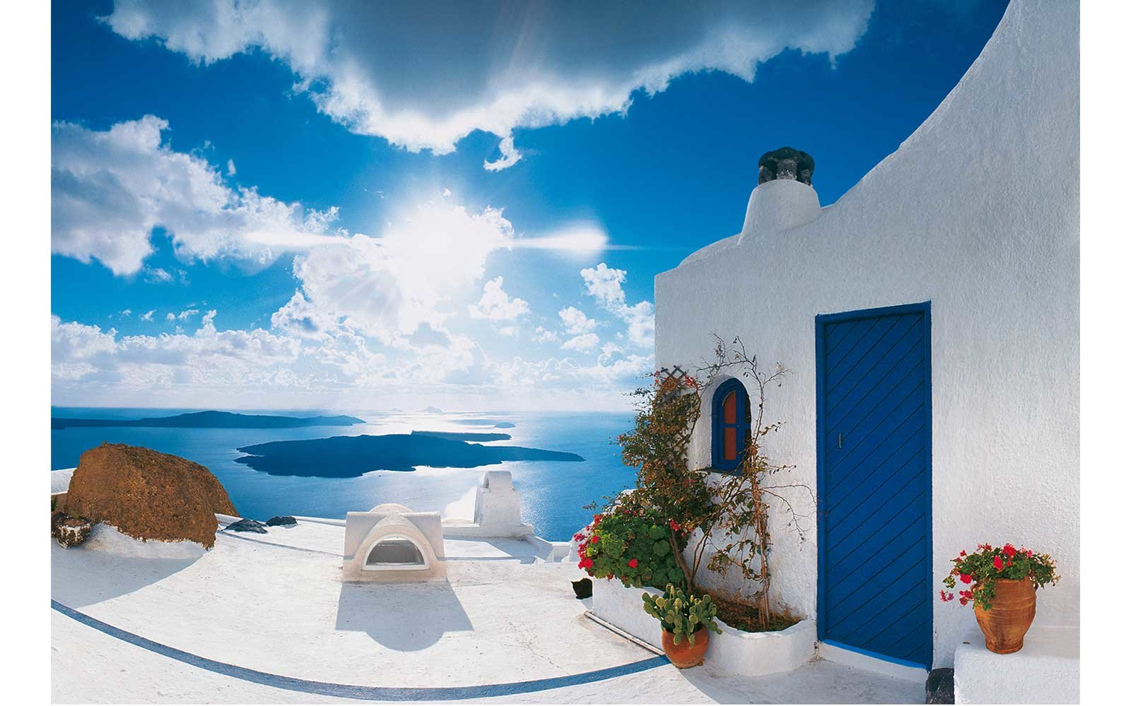 Santorini Sunset Wall Mural