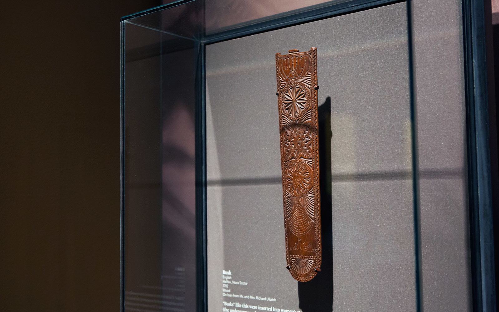 Carved Busk, Museum of the American Revolution, Philadelphia, Pennsylvania