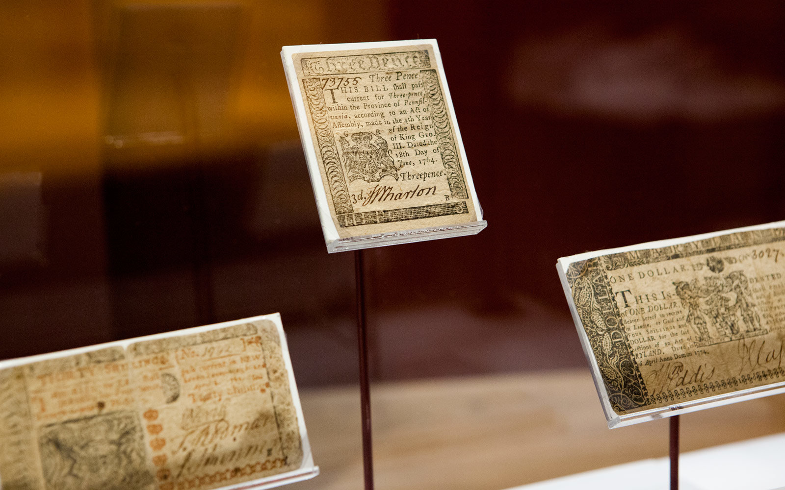 Colonial Currency, Museum of the American Revolution, Philadelphia, Pennsylvania