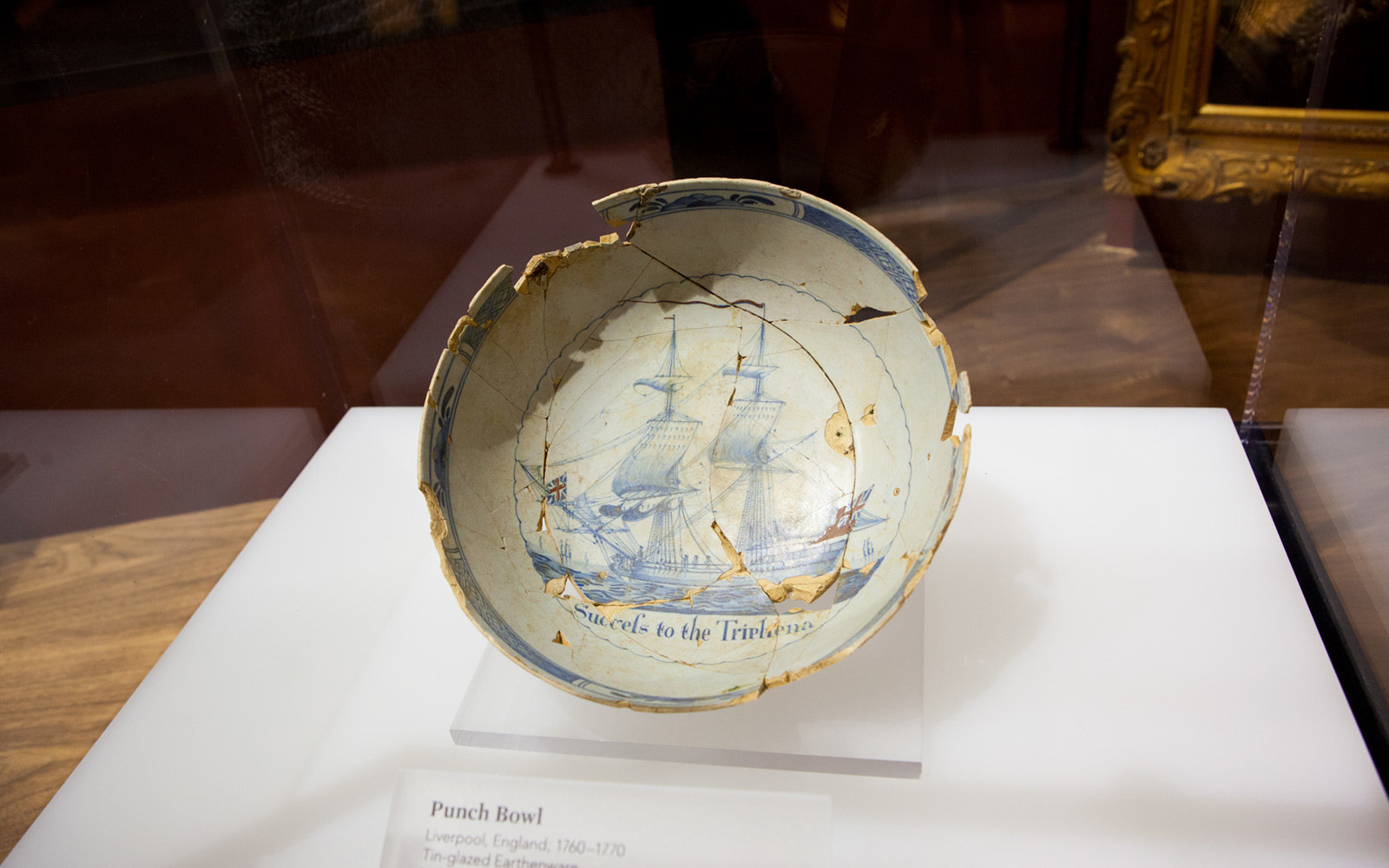 English Punch Bowl, Museum of the American Revolution, Philadelphia, Pennsylvania