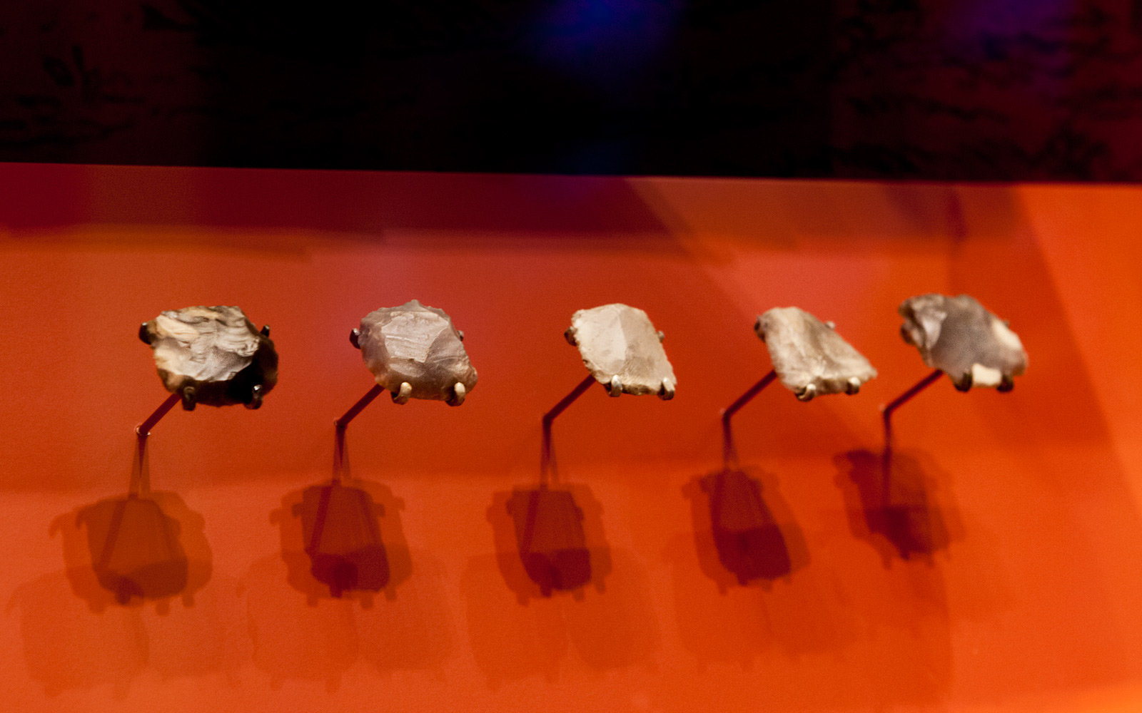 Flints from Shot Heard Round the World, Museum of the American Revolution, Philadelphia, Pennsylvania