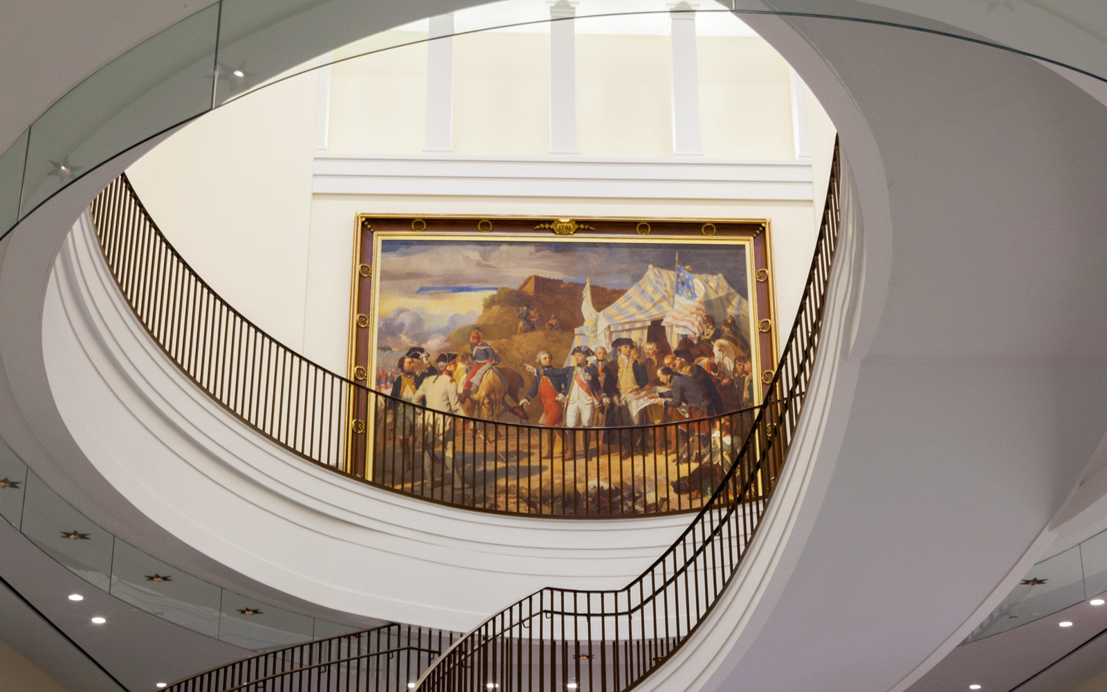 Interior Stairwell, Museum of the American Revolution, Philadelphia, Pennsylvania