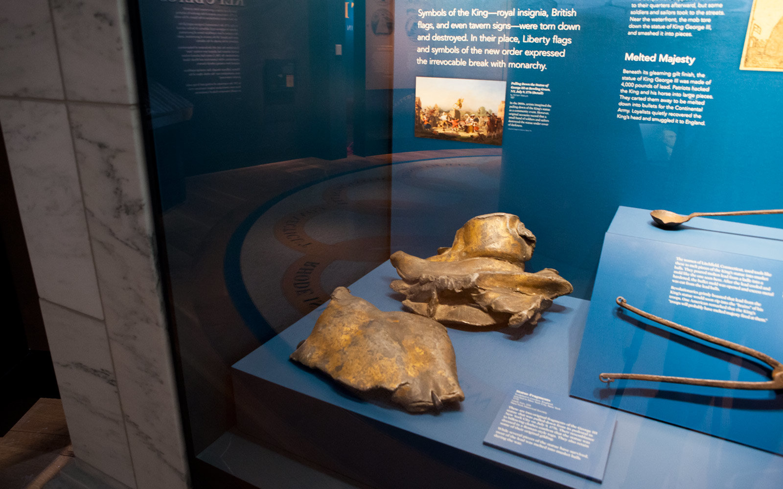 King George III Statue Fragments, Museum of the American Revolution, Philadelphia, Pennsylvania