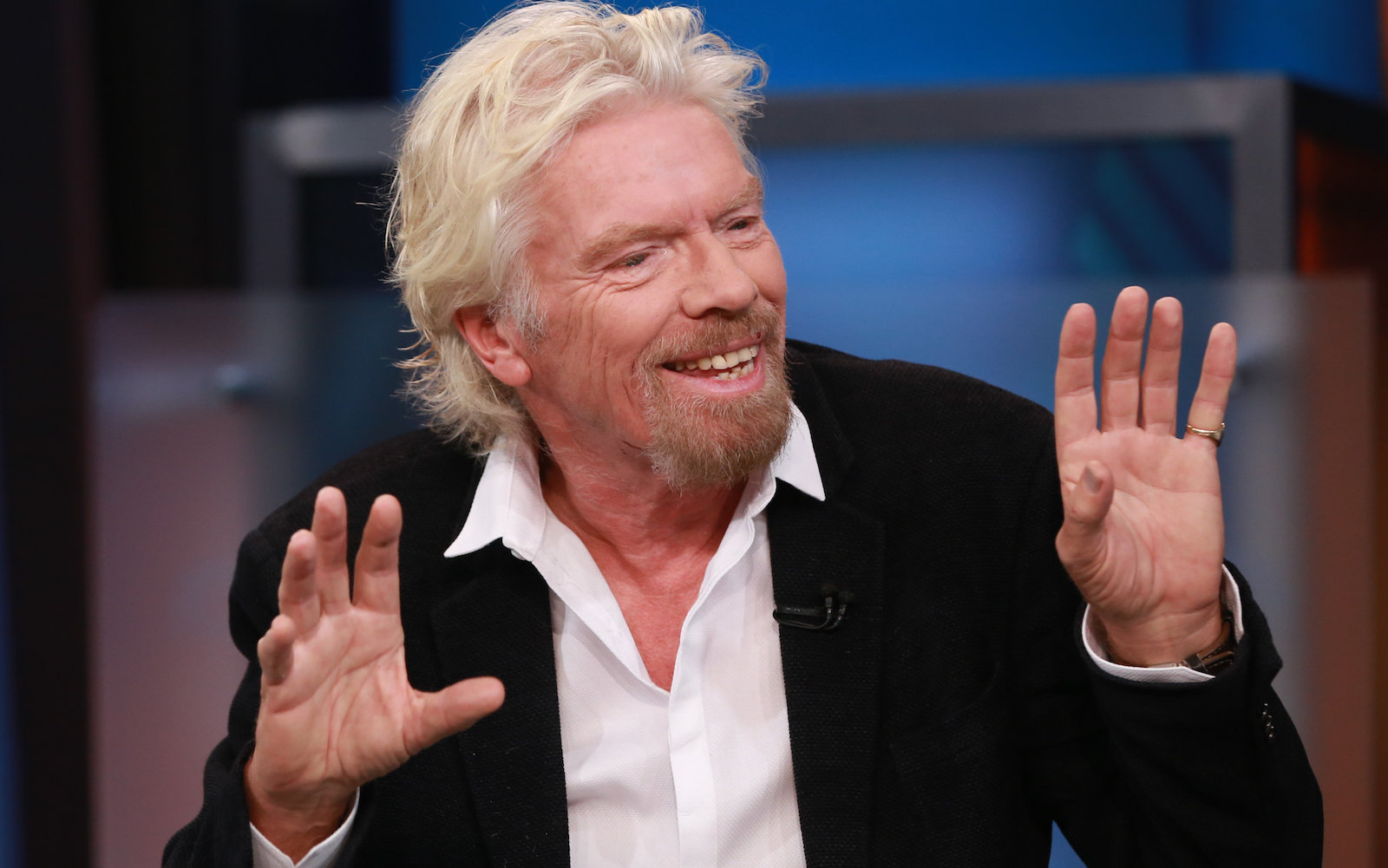 SQUAWK BOX -- Pictured: Sir Richard Branson, founder of Virgin Group, in an interview on September 28, 2015 -- (Photo by: David Orrell/CNBC/NBCU Photo Bank via Getty Images)