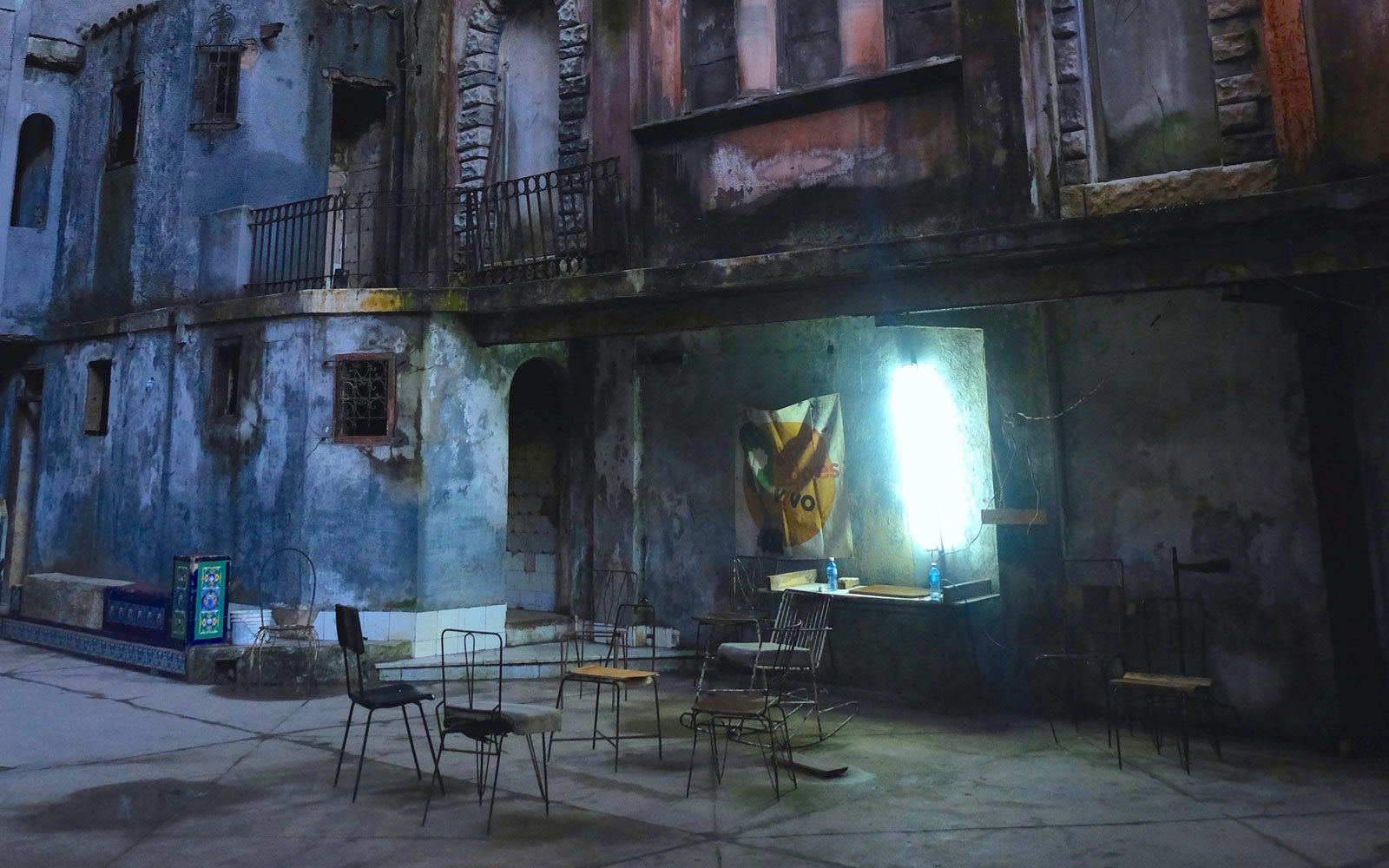 Abandoned buildings in Cuba.