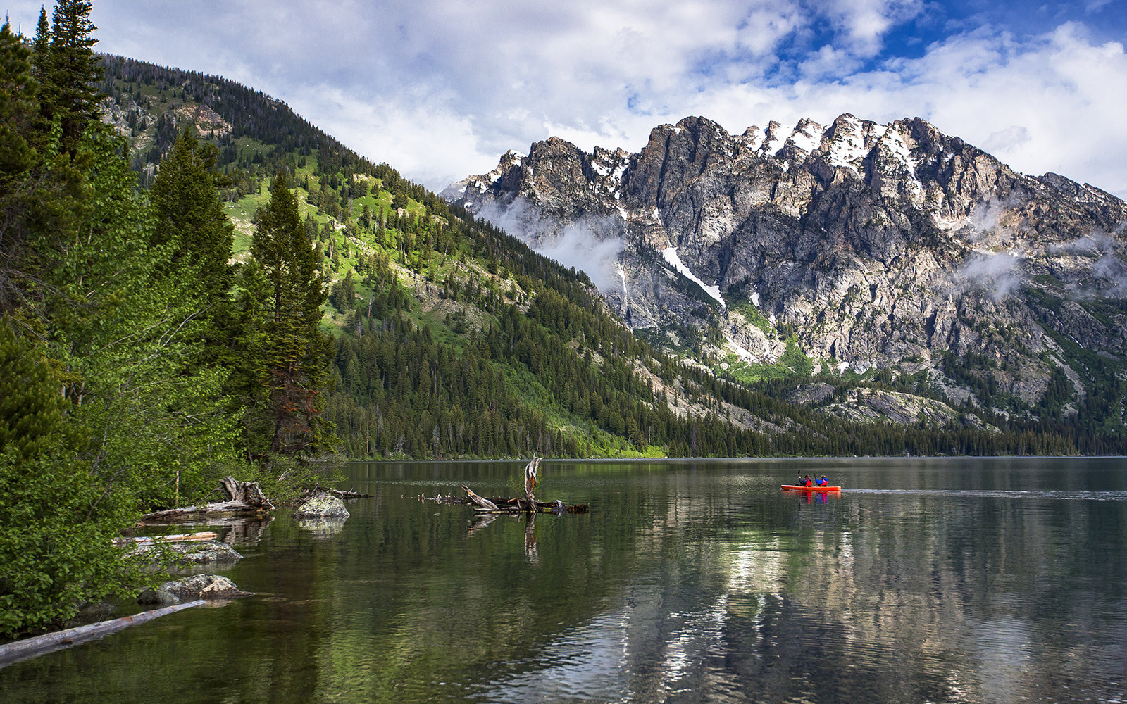 Taggart Lake and Bradley Lake in Grand Teton National Park
