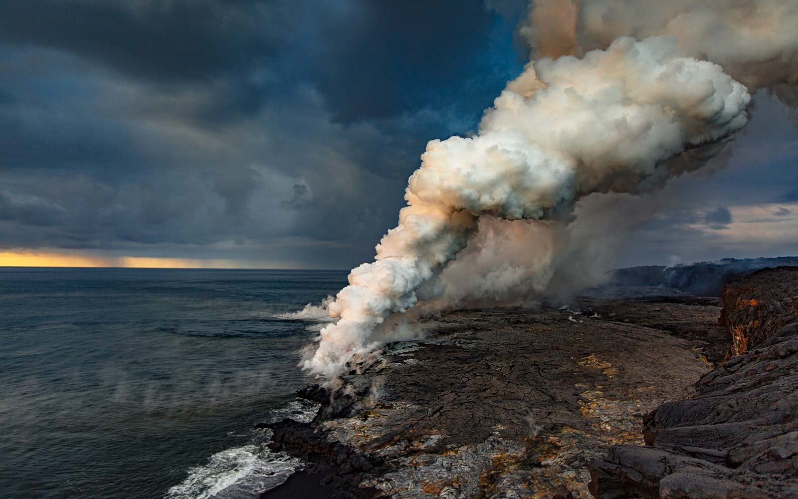 The Ocean Lava Entry Points at Hawaii Volcanoes National Park