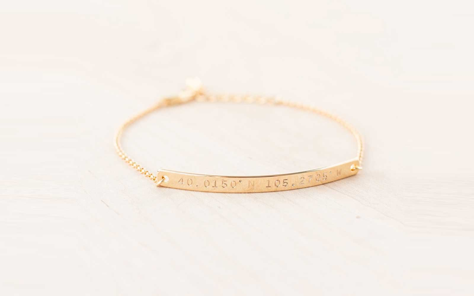 Personalized Location Bracelet