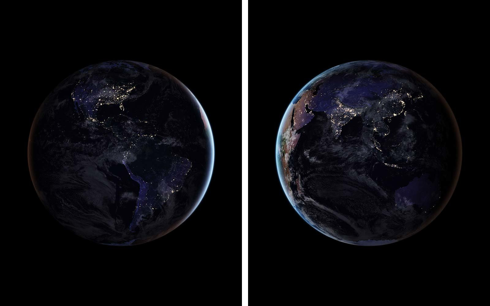 NASA's New Photos of Earth Lit up at Night Will Take Your