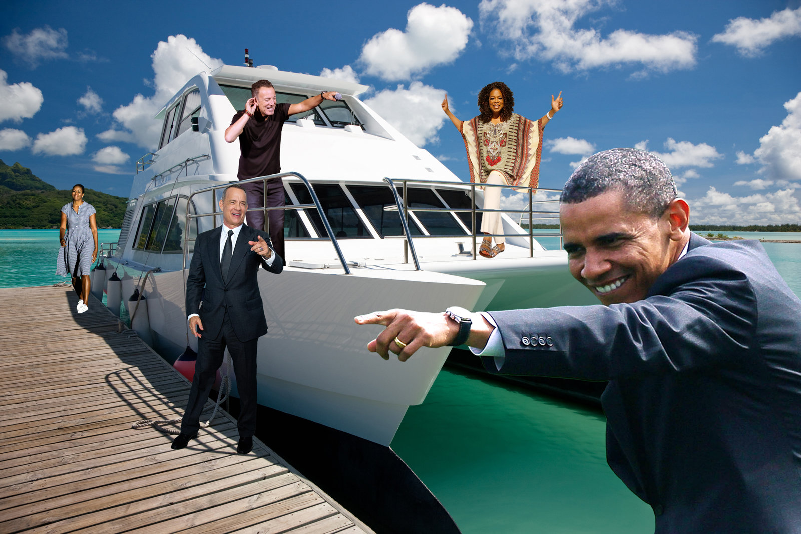 Obama's Host Special Yacht Party in Tahiti