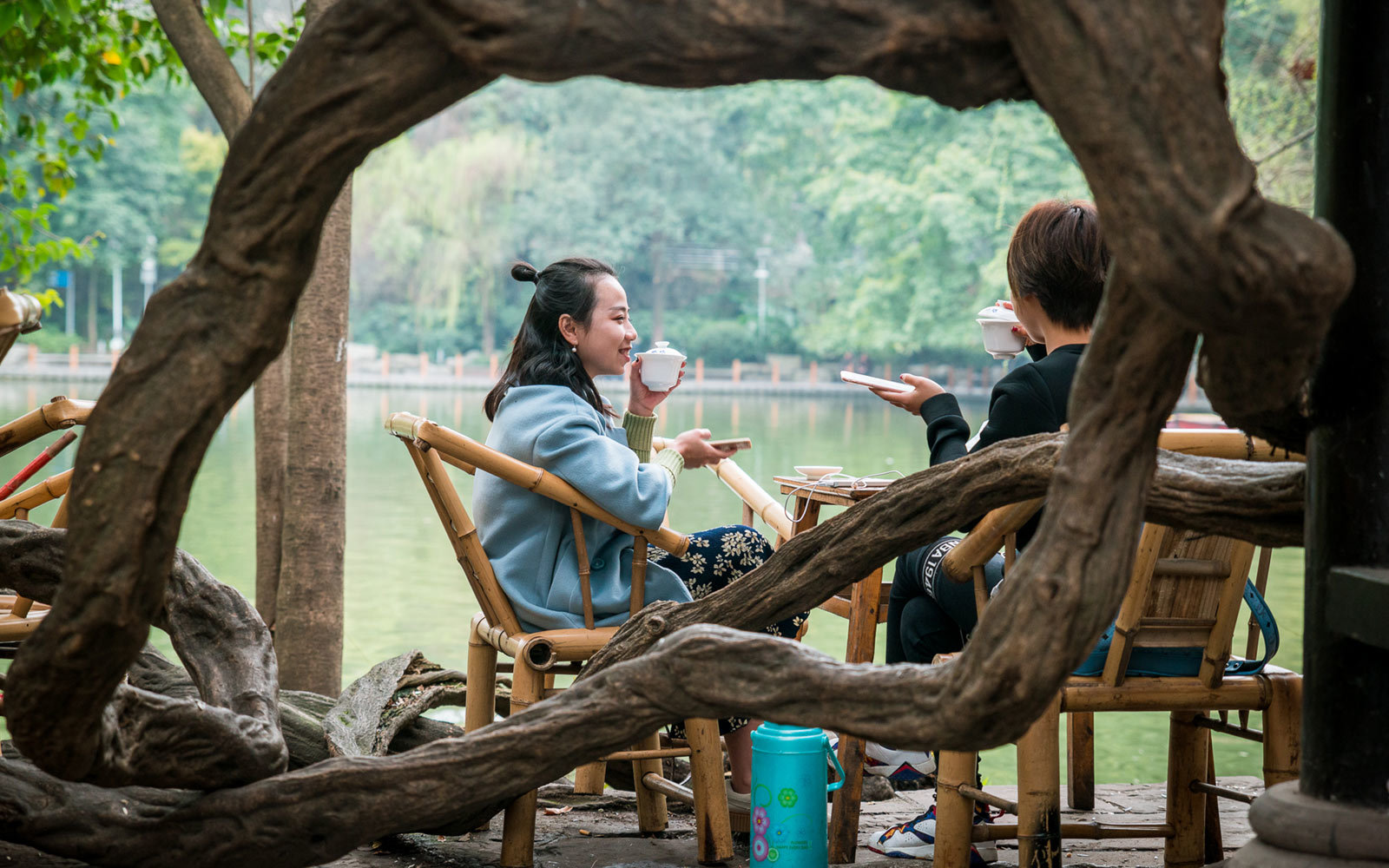 Heming Teahouse, People's Park, Chengdu, China