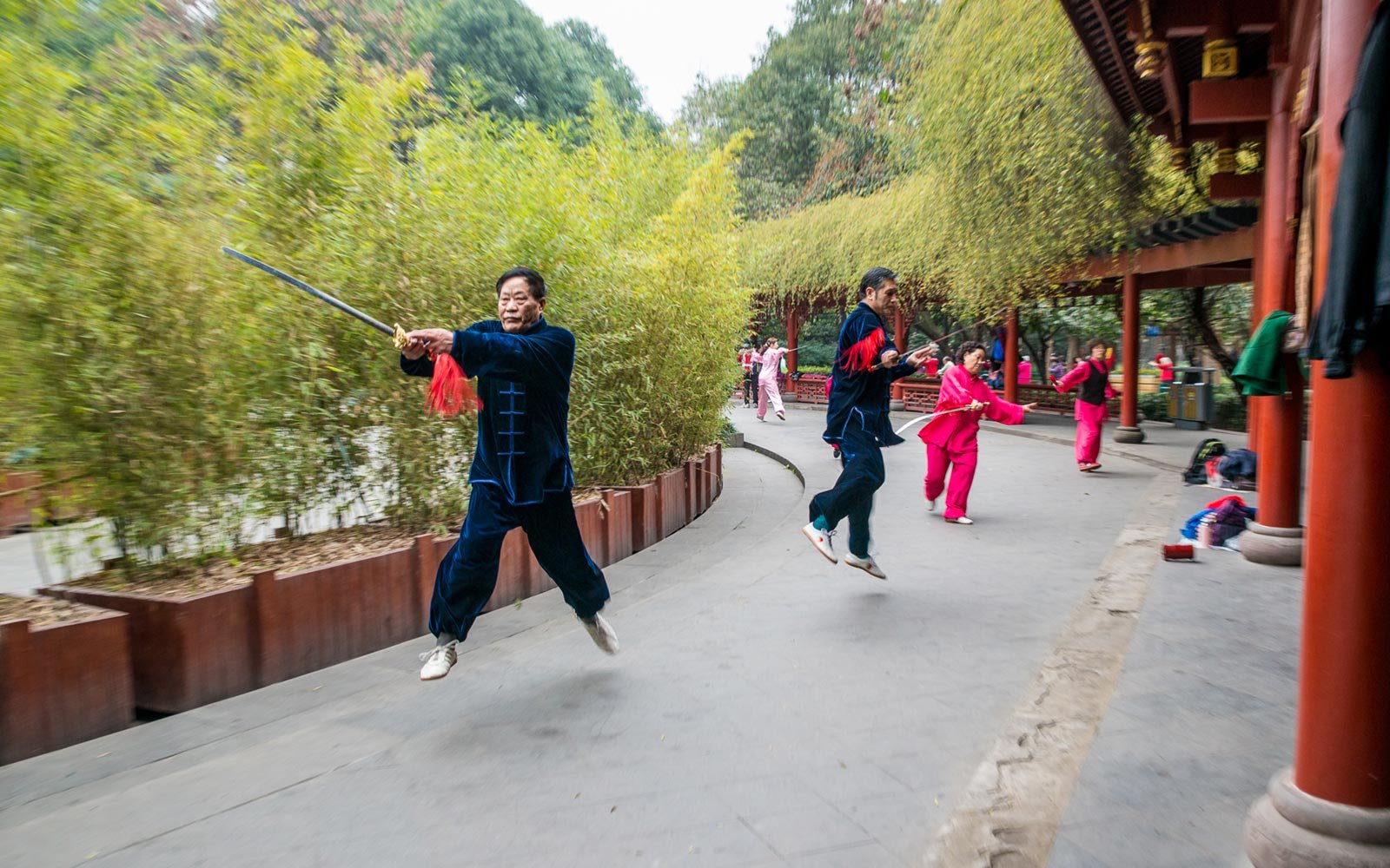 Tai Chi, People's Park, Chengdu, China