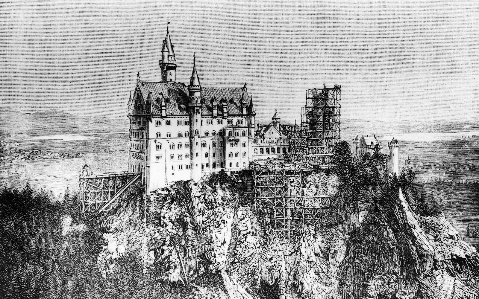 Neuschwanstein Castle Construction