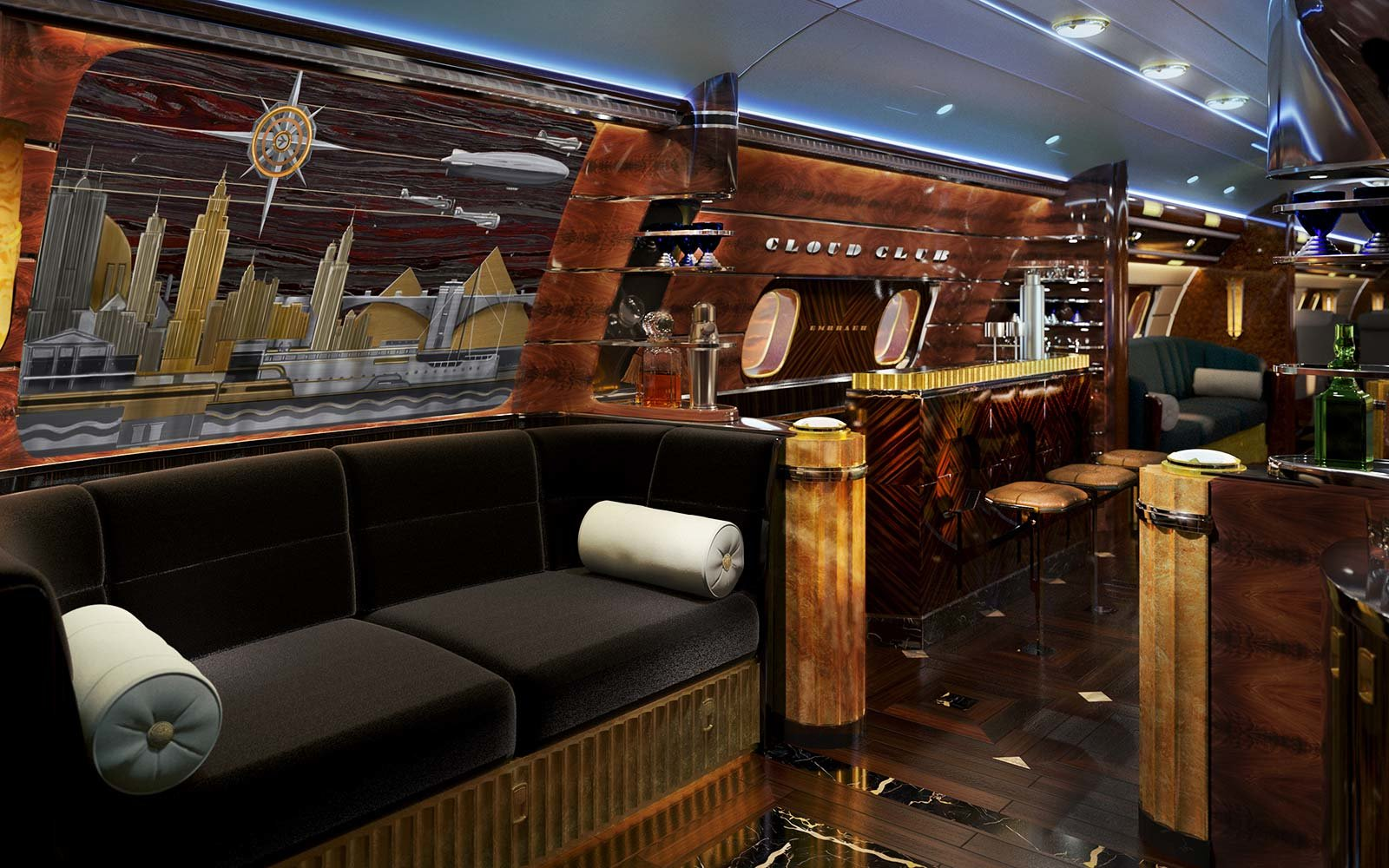 Art Deco Plane Cocktail Bar