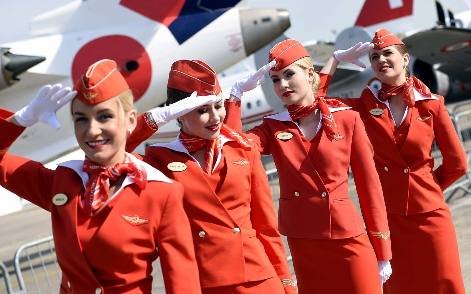 Cabin crew of the Russian airline Aeroflot