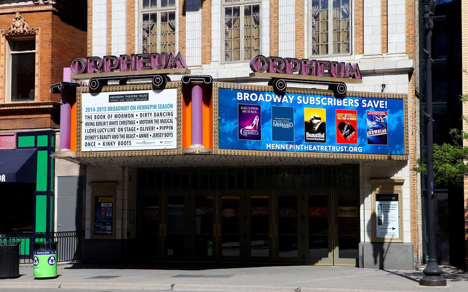 Orpheum Theater Summer 2017 Shows
