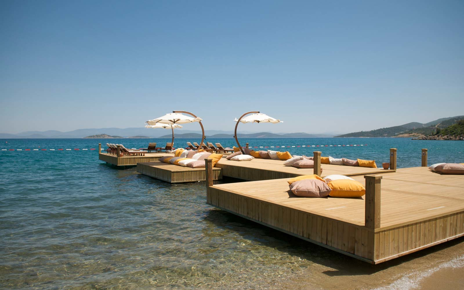 Floating Platform in Bodrum, Turkey