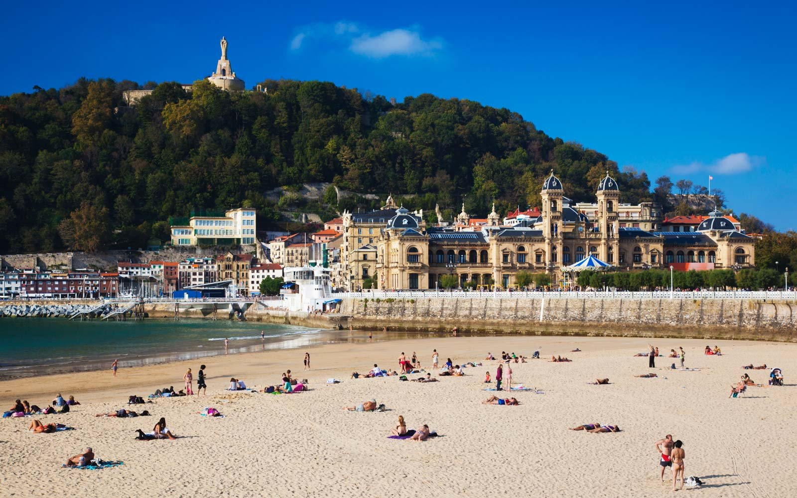 Beautiful Beach in San Sebastian, Spain