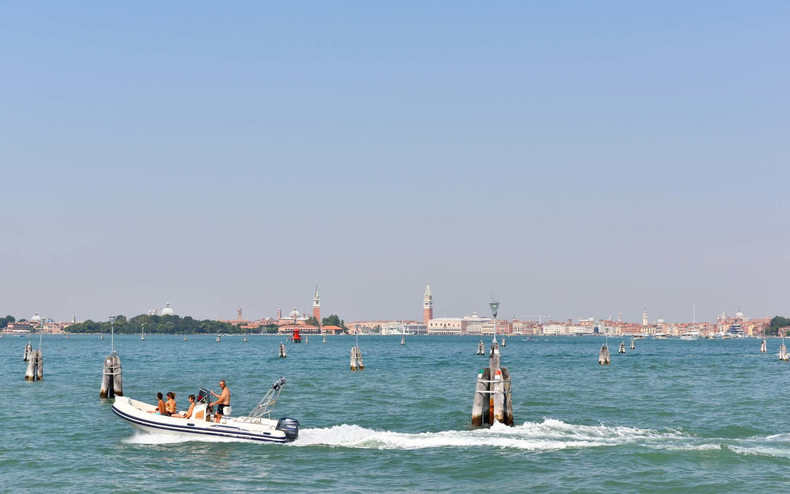 View of Venice from Lido Island