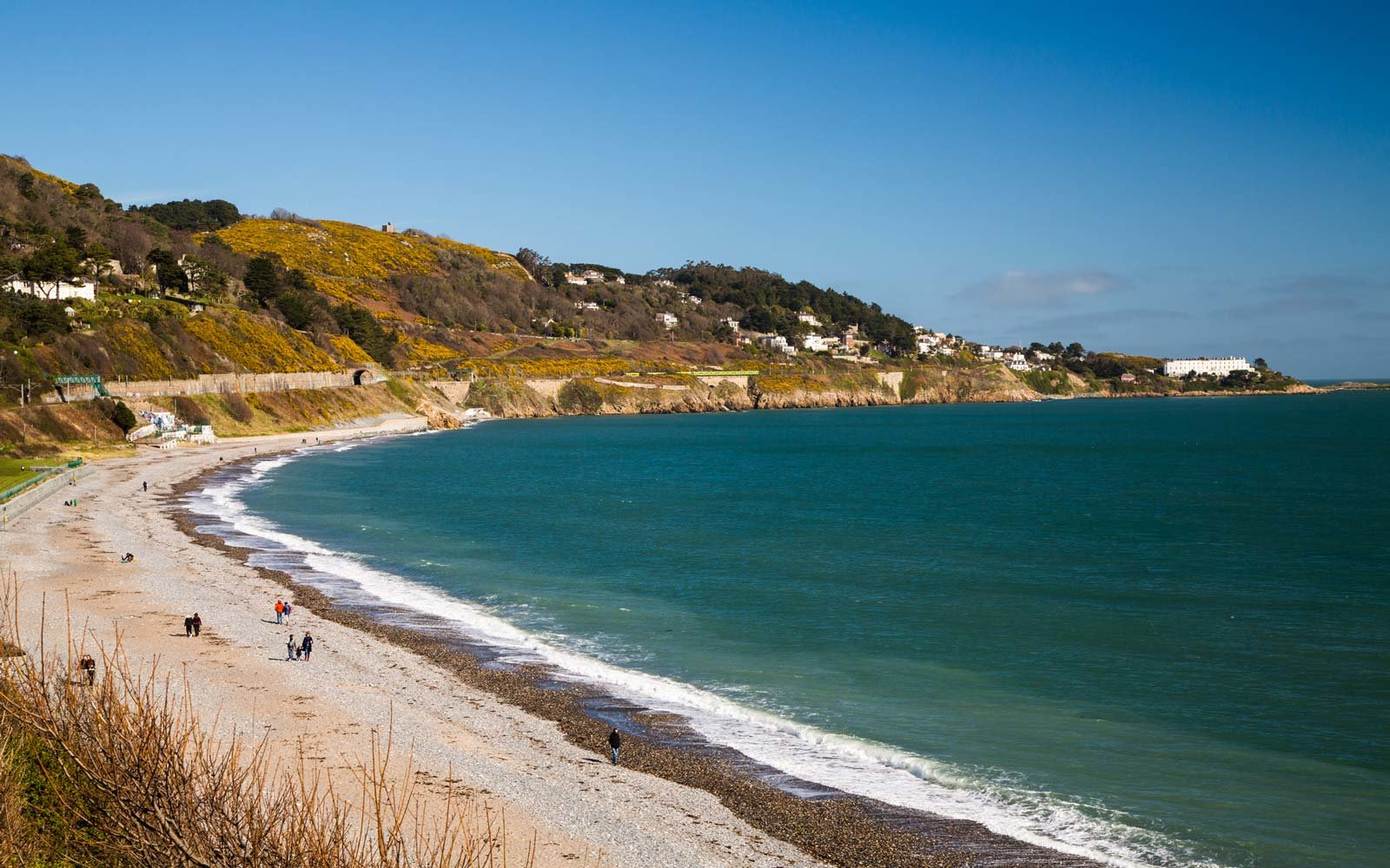 Killiney Beach in Dublin, Ireland