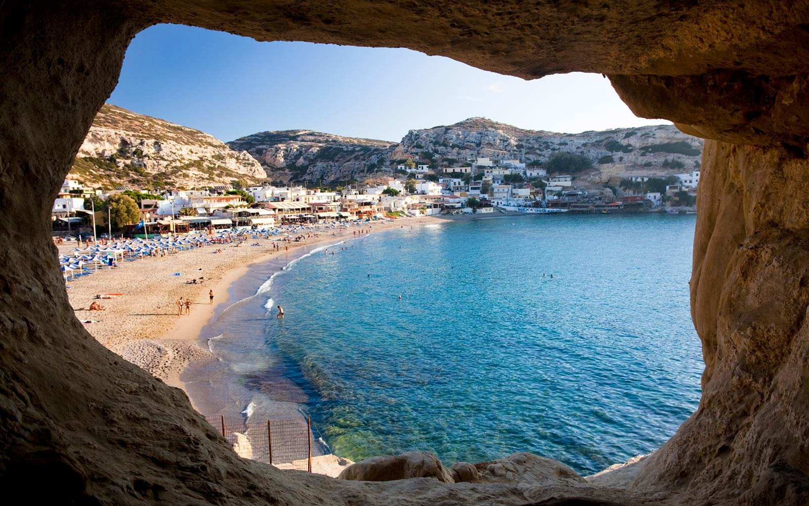 Matala beach, Crete, Greece