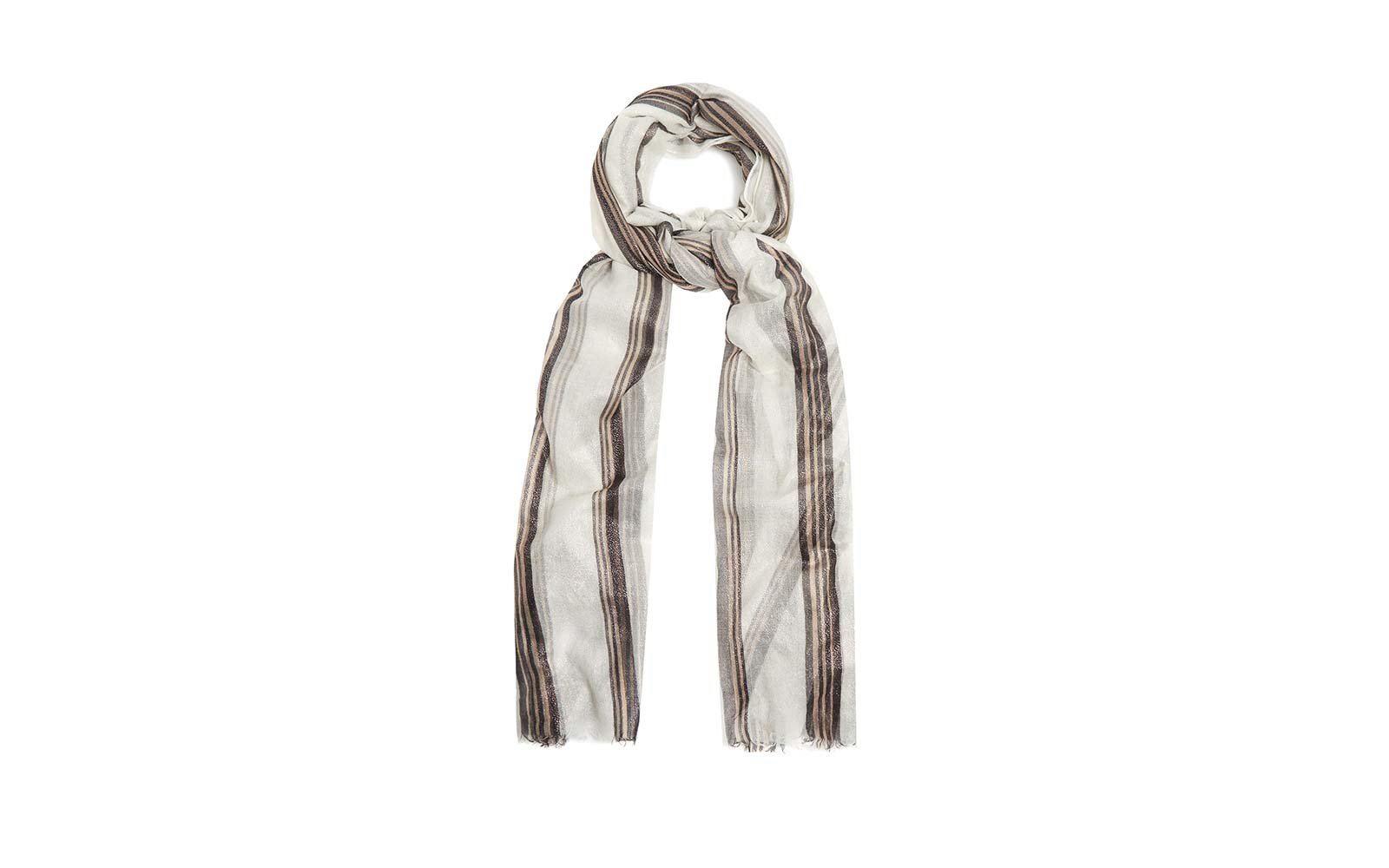 Natalie Kingham Matches Fashion Brunello Cucinelli Scarf