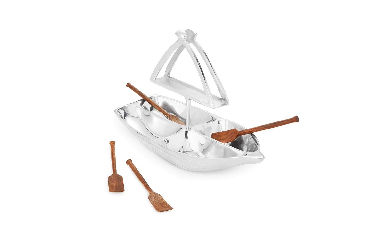 Rowboat Serving Boat with Napkin Holder