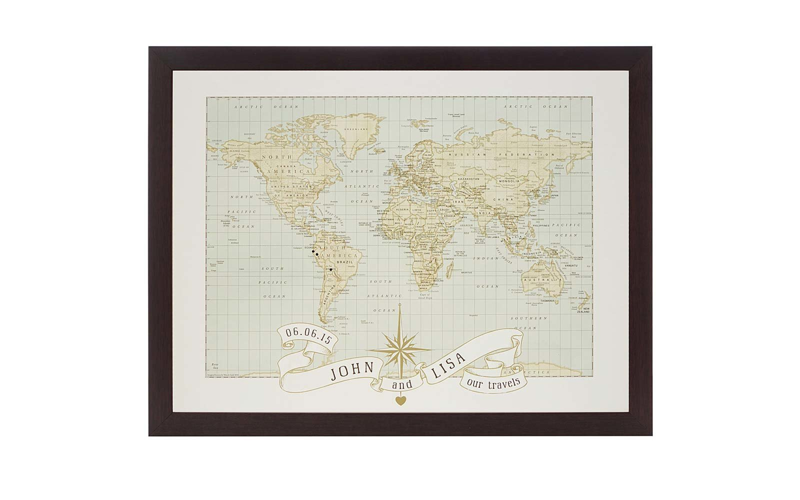 Personalized Pushpin Map